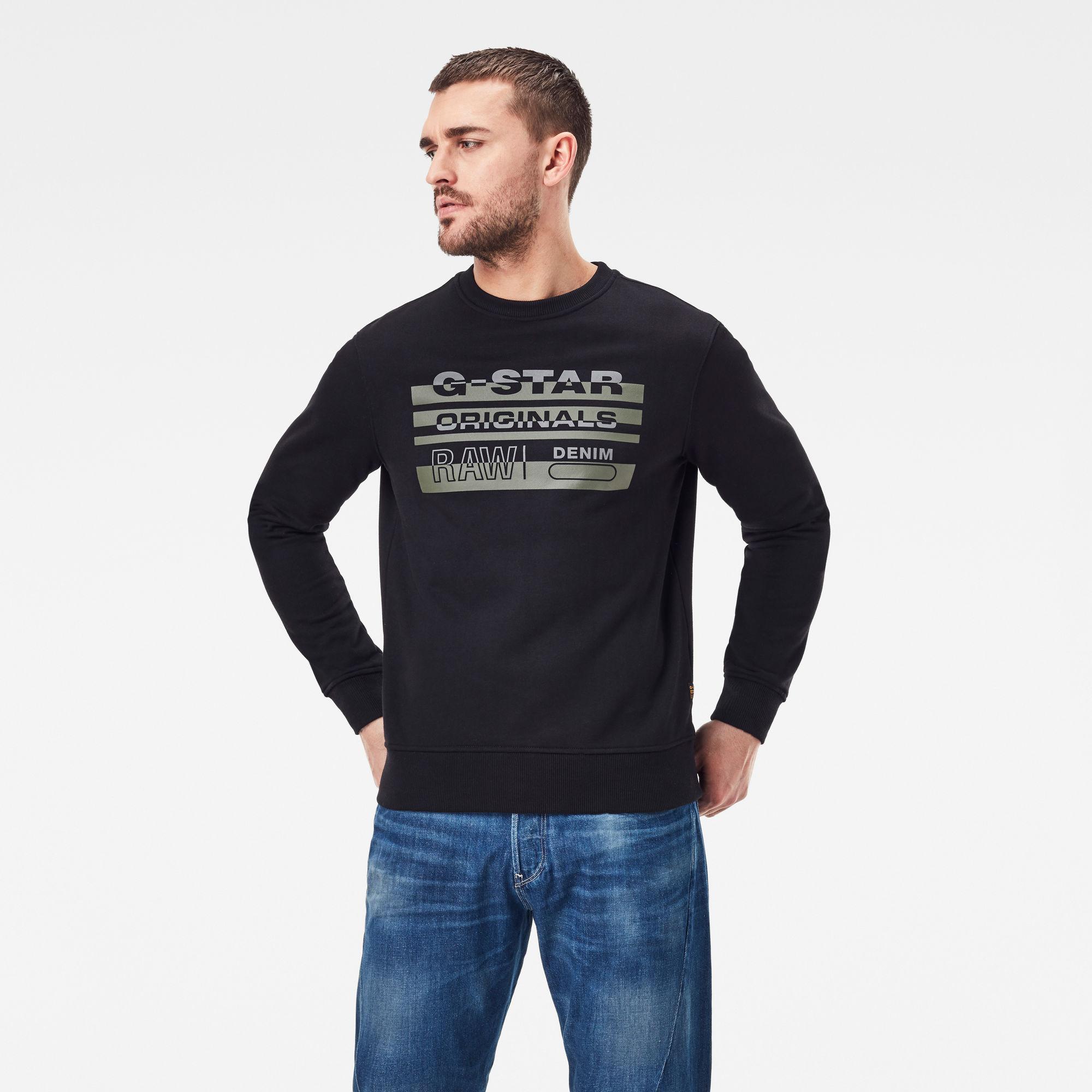 G-Star RAW Heren Originals Sweater Zwart