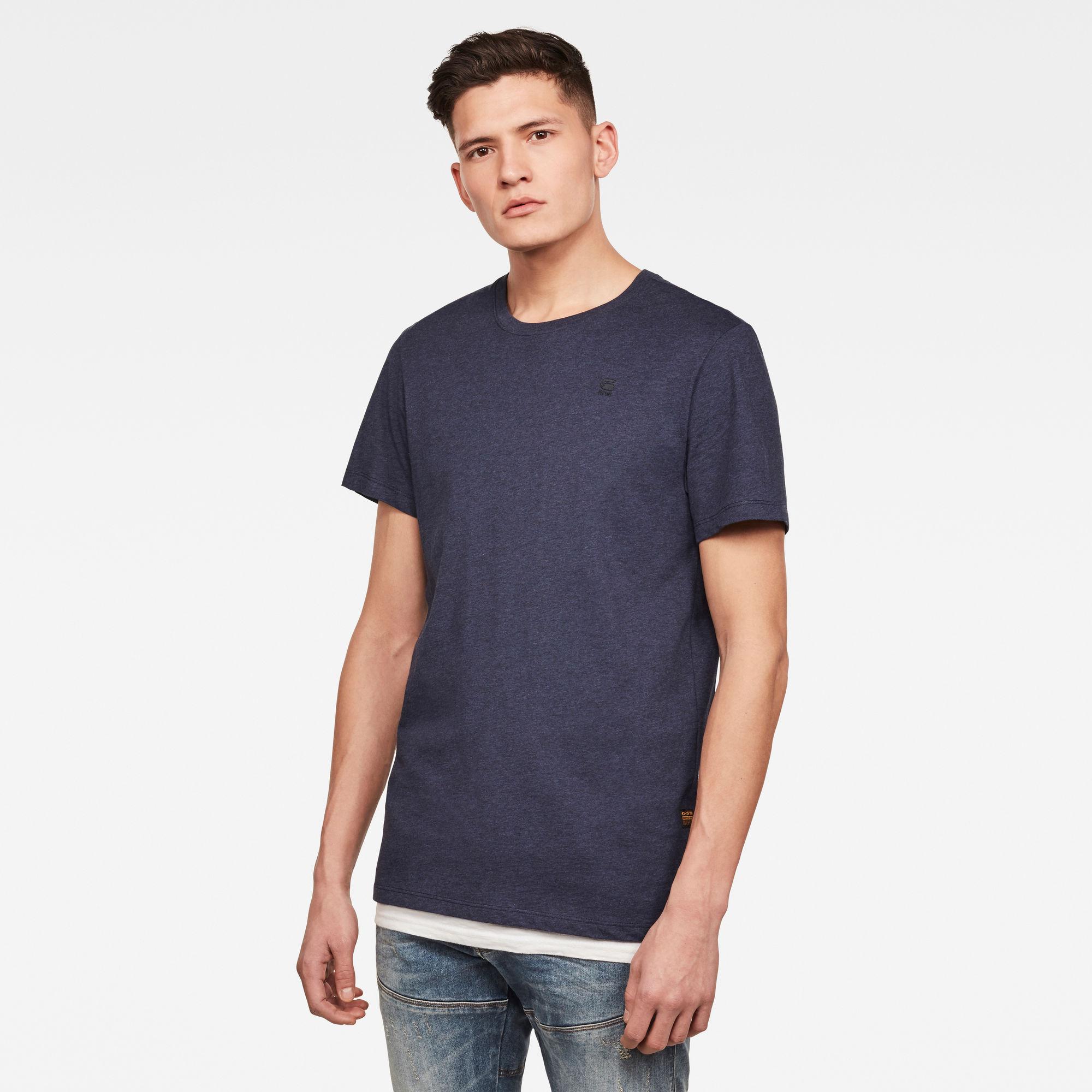 G-Star RAW Heren Base-S T-Shirt Donkerblauw