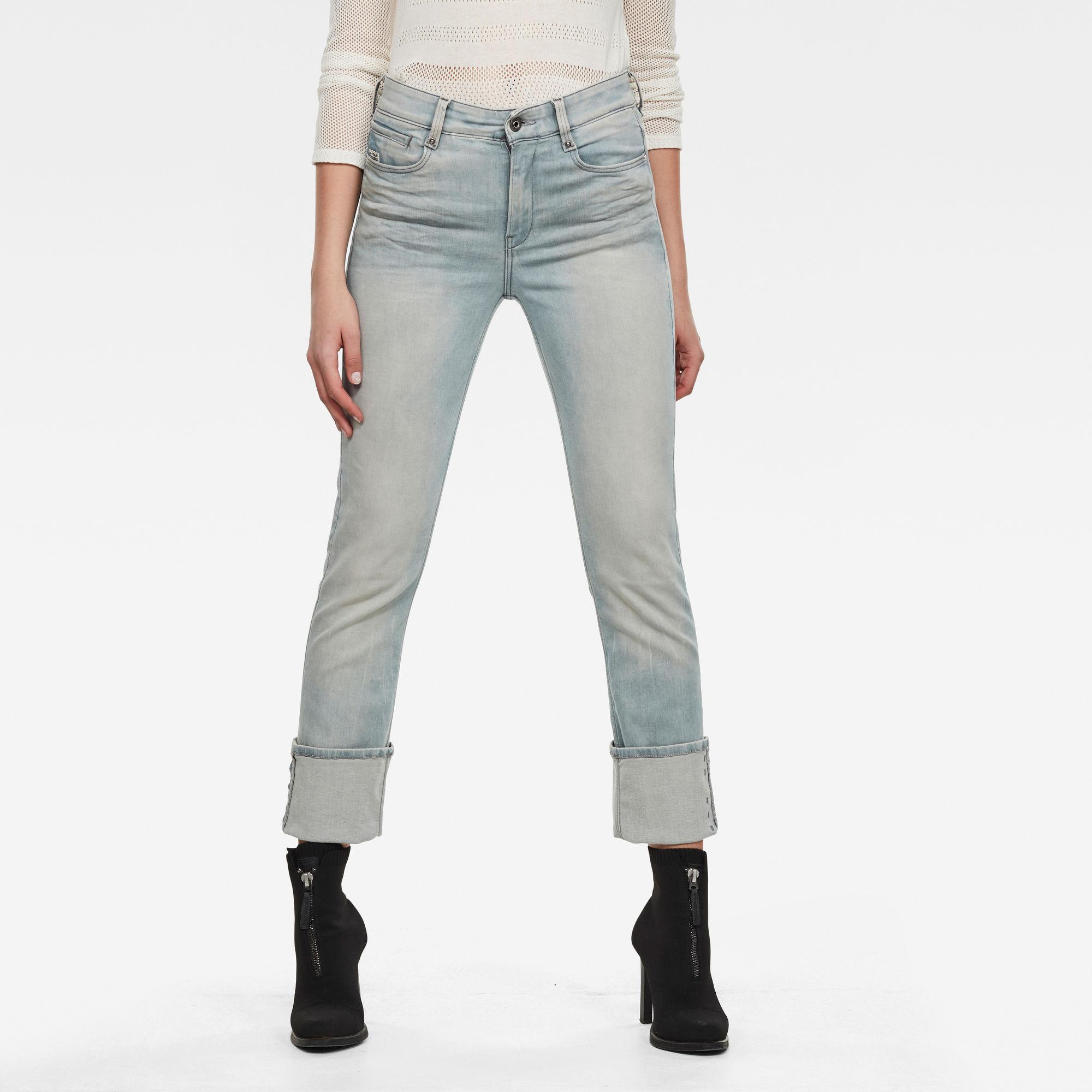 G-Star RAW Dames Noxer Straight Jeans Lichtblauw
