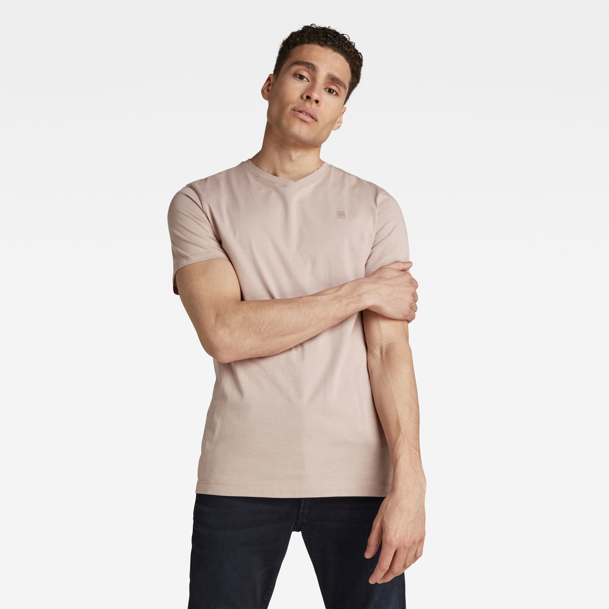 G-Star RAW Heren Base-S T-Shirt Roze