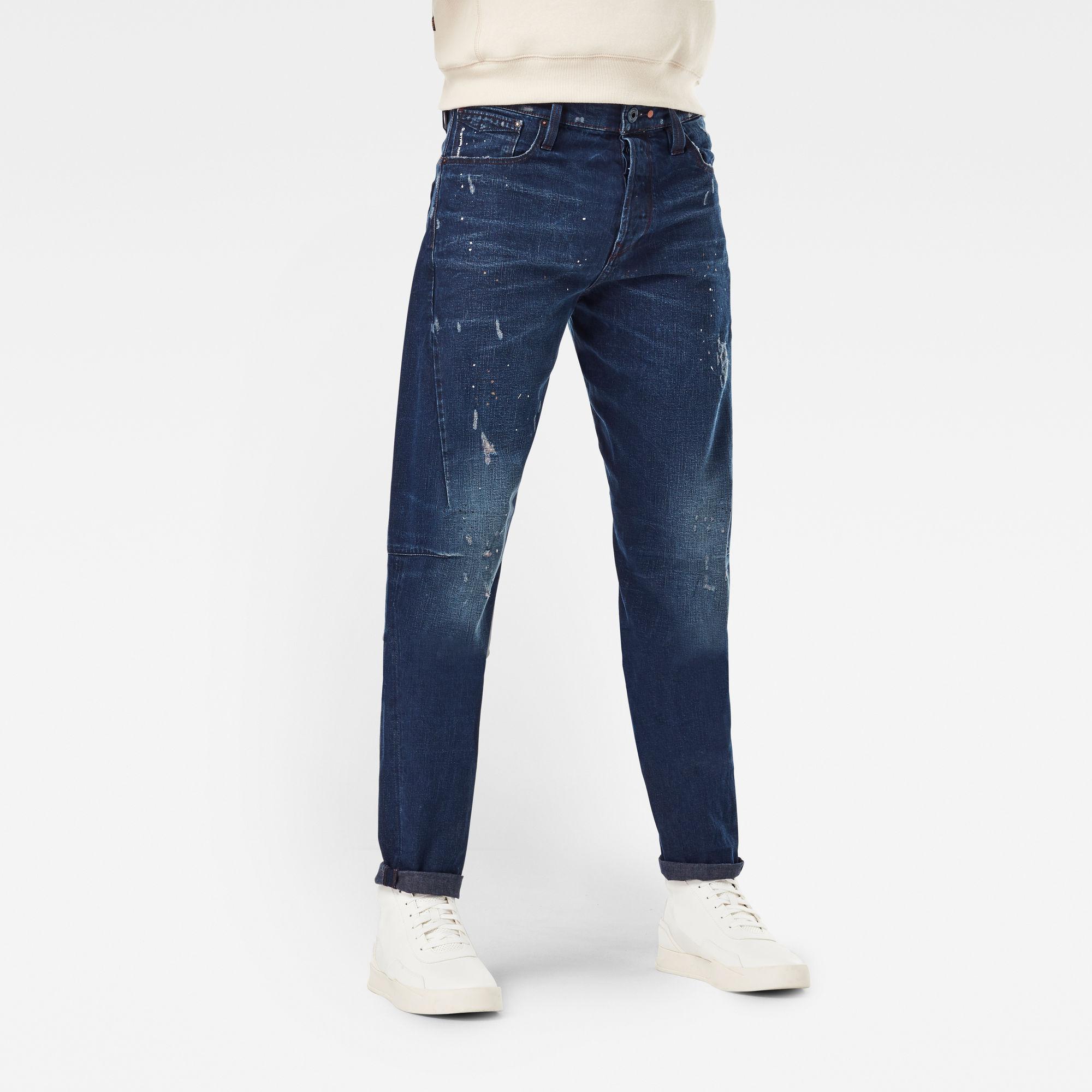 G-Star RAW Heren Scutar 3D Slim Tapered Jeans Donkerblauw