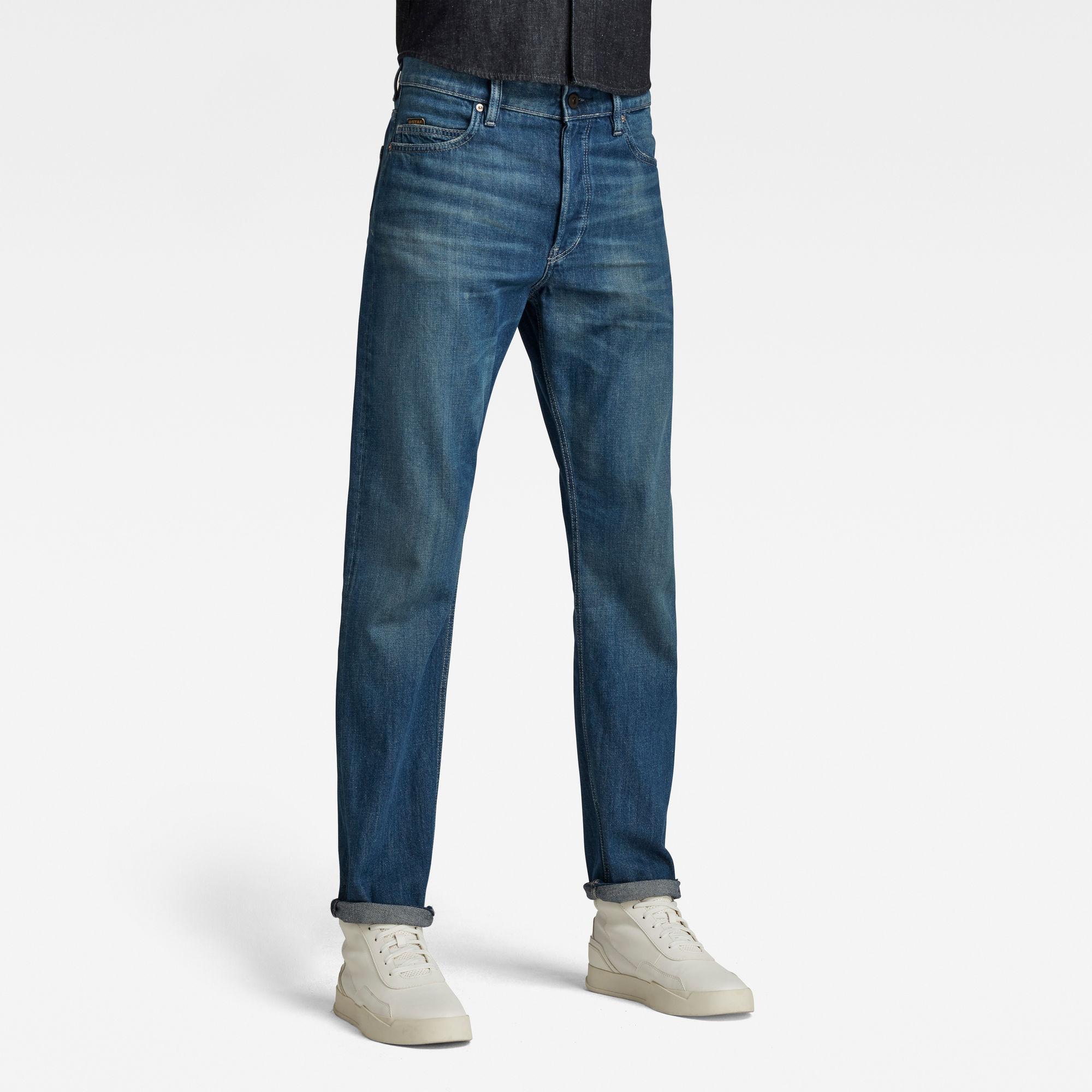 G-Star RAW Heren Triple A Straight Jeans C Blauw