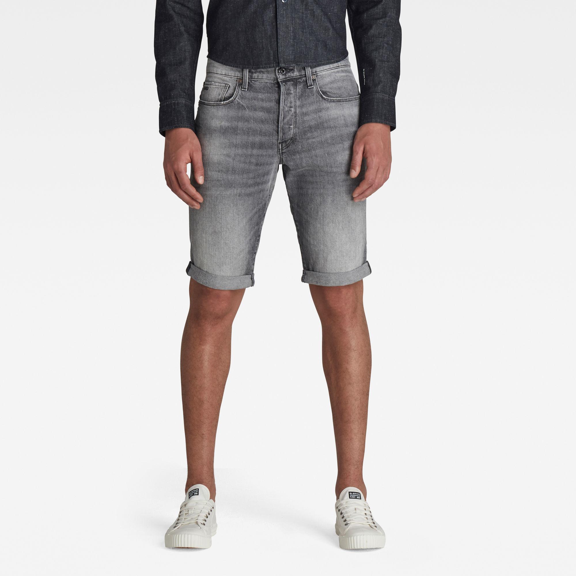 G-Star RAW Heren 3301 Denim Shorts Grijs
