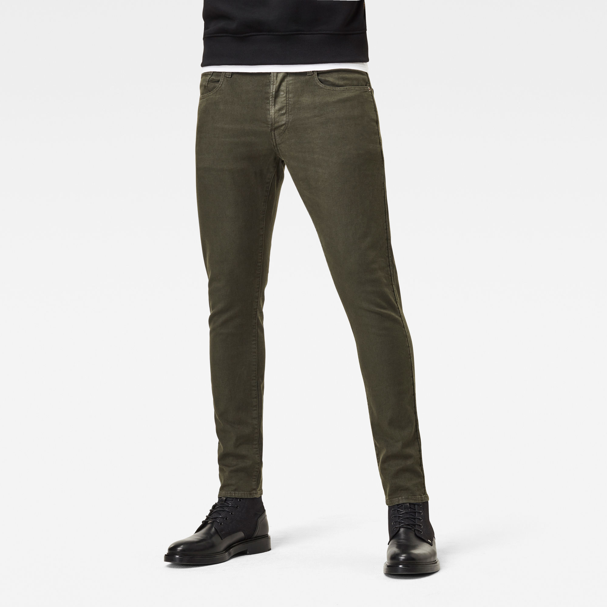 G-Star RAW Heren 3301 Slim Gekleurde Jeans Groen