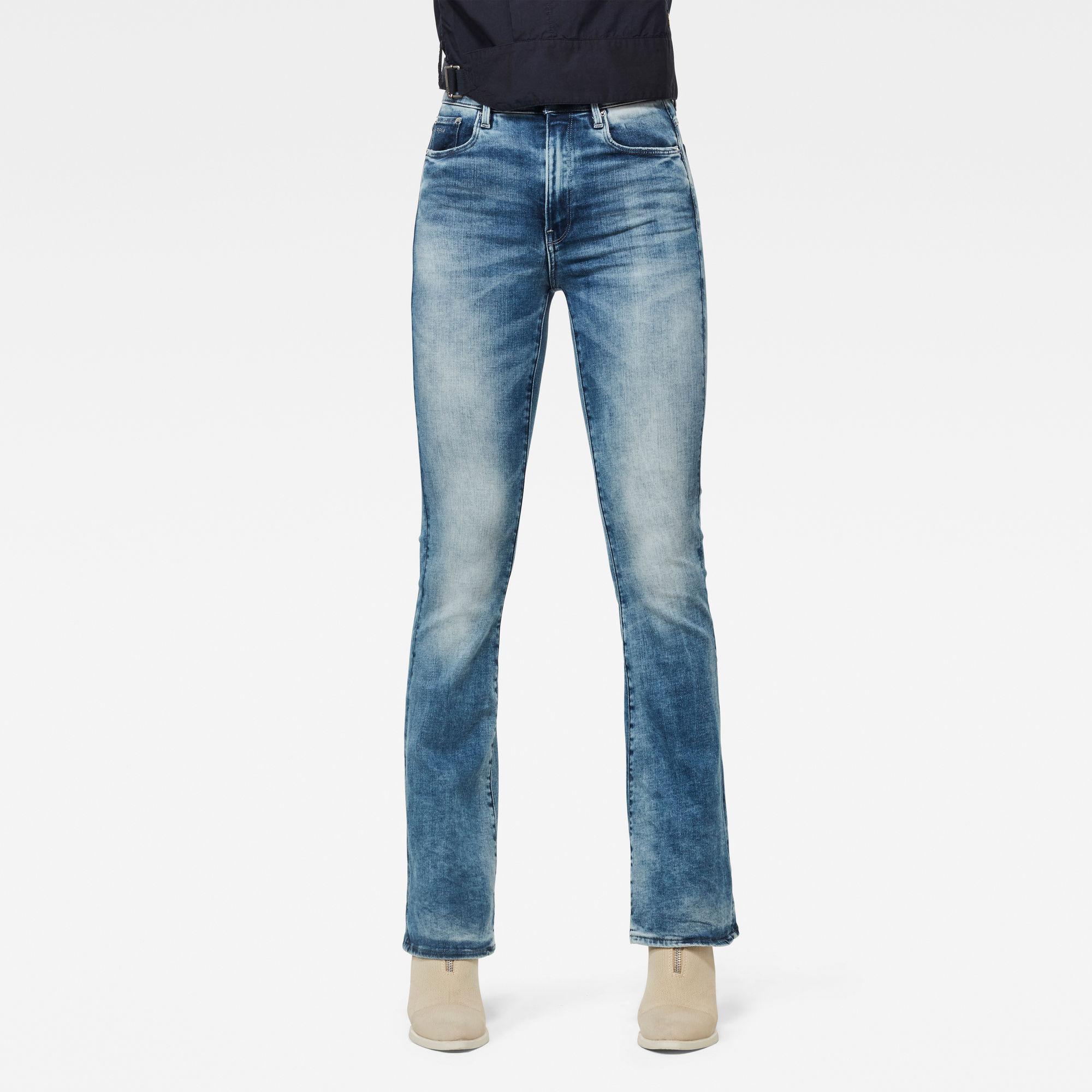 G-Star RAW Dames 3301 High Flare Jeans Lichtblauw