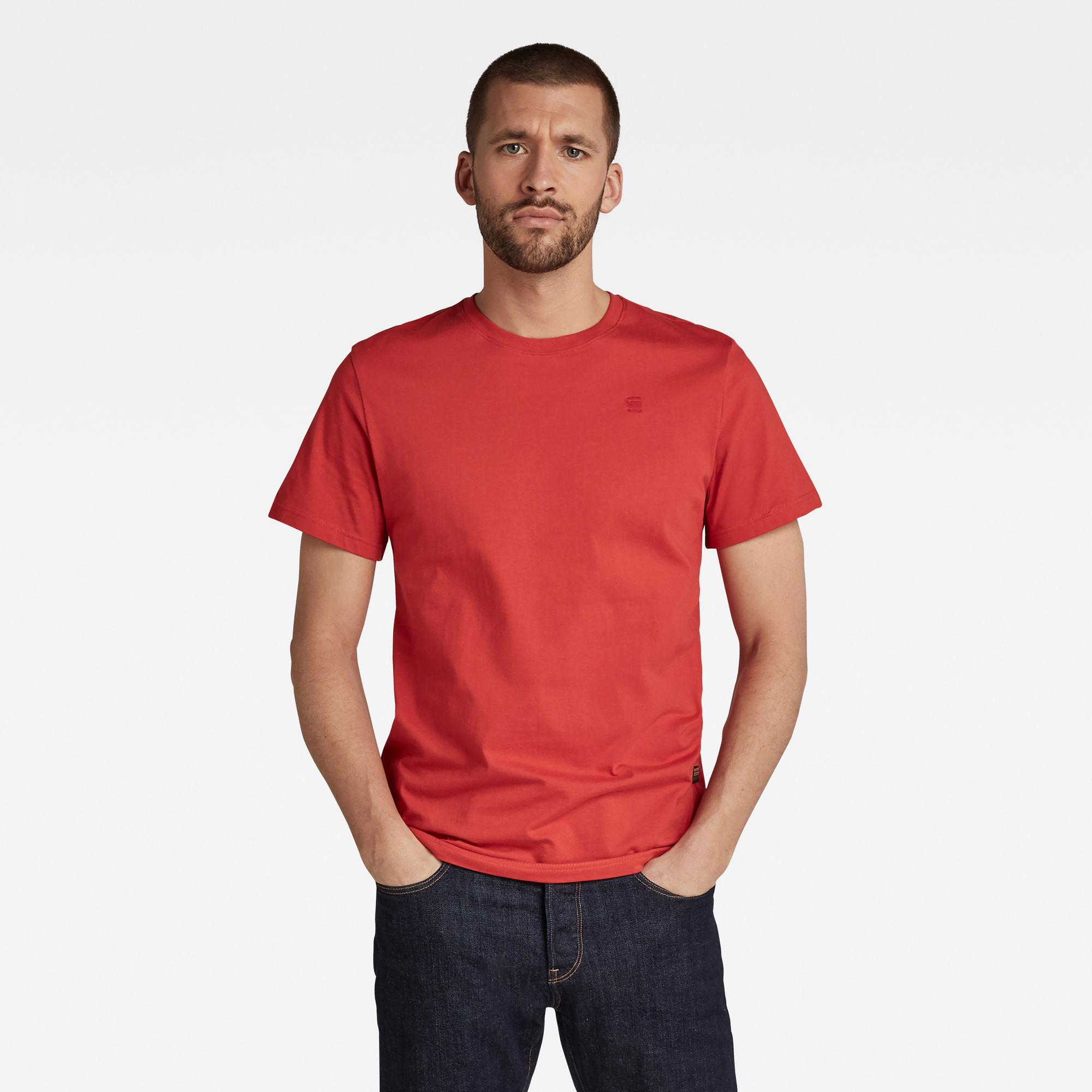 G-Star RAW Heren Base-S T-Shirt Rood