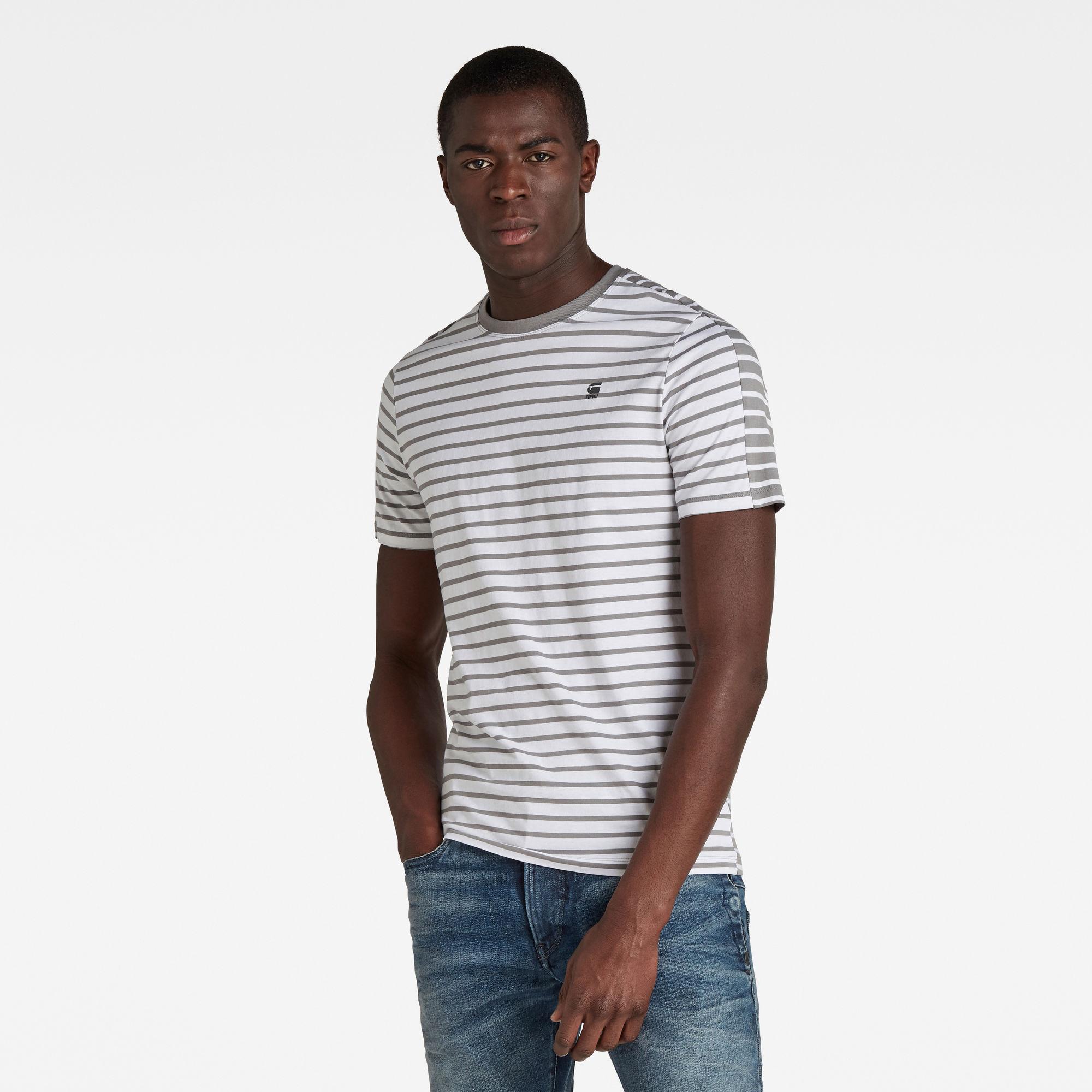 G-Star RAW Heren Korpaz Stripe GR Slim Top Meerkleurig