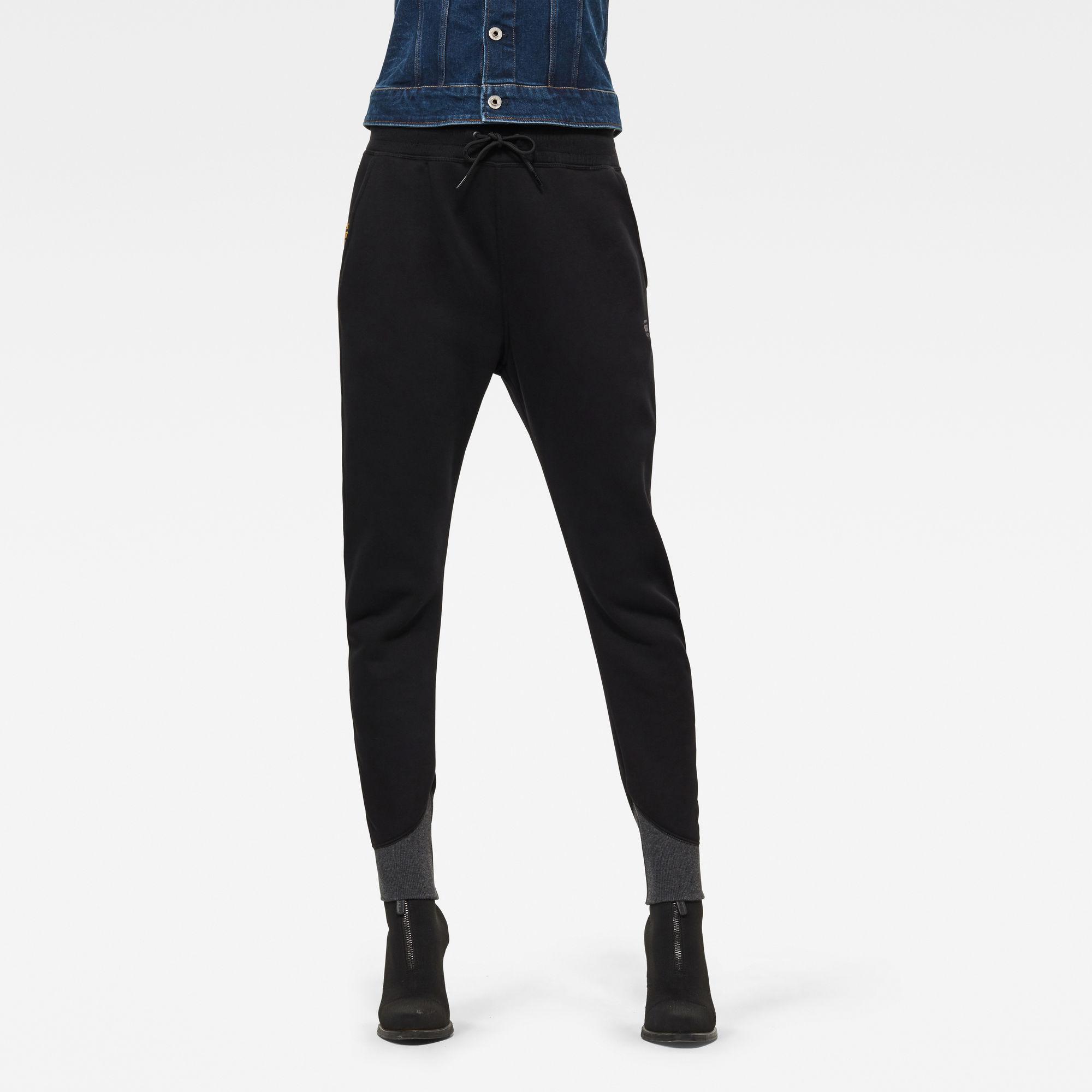 G-Star RAW Dames Premium core 3D Tapered Sweatpants Zwart