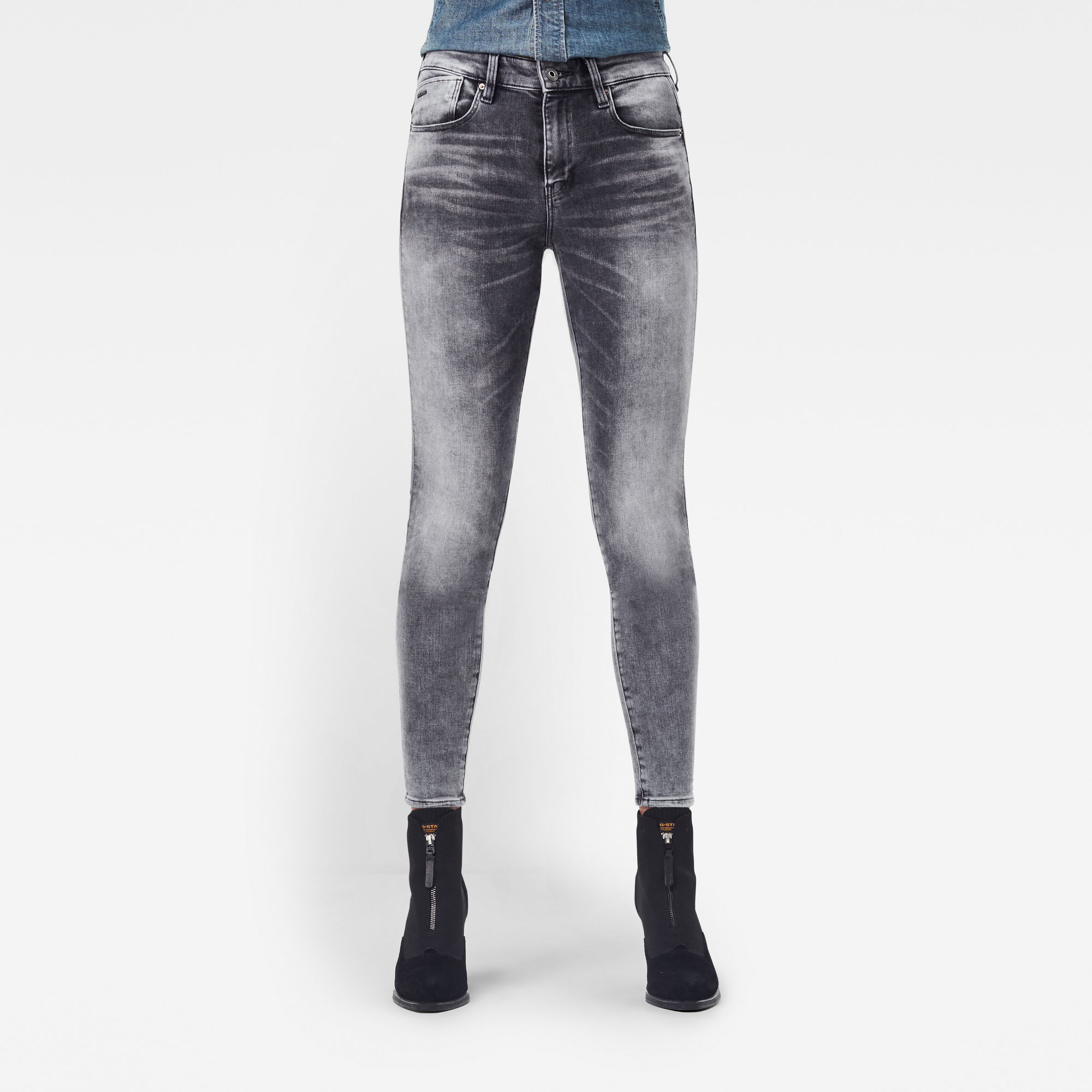 G-Star RAW Dames Lhana Skinny Jeans Grijs