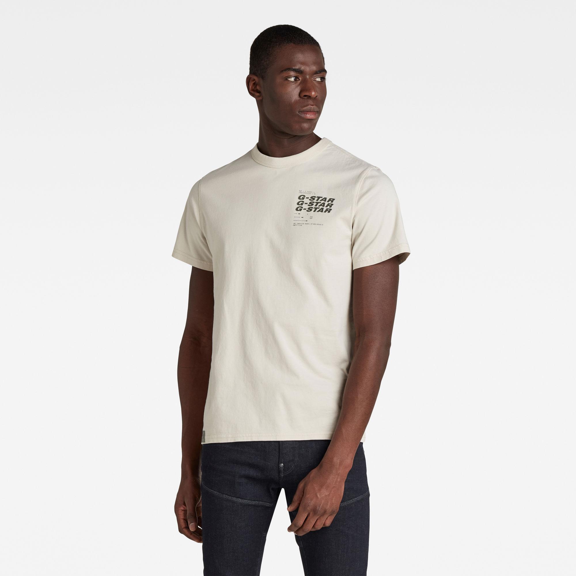 G-Star RAW Heren Big Back Graphic T-Shirt Beige