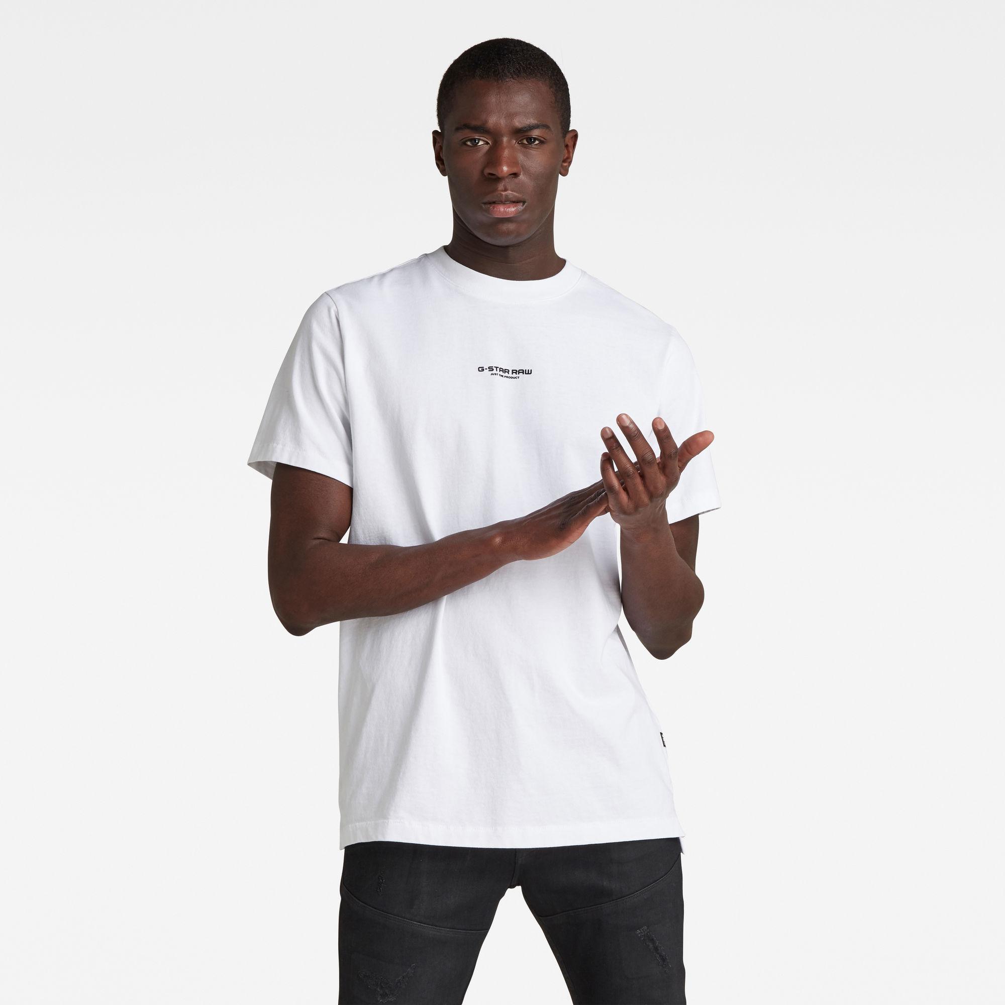 G-Star RAW Heren Center Chest Logo GR Loose T-Shirt Wit