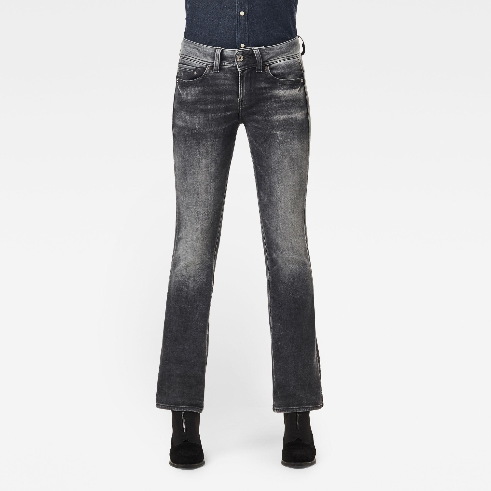 G-Star RAW Dames Midge Mid Bootcut Jeans Grijs