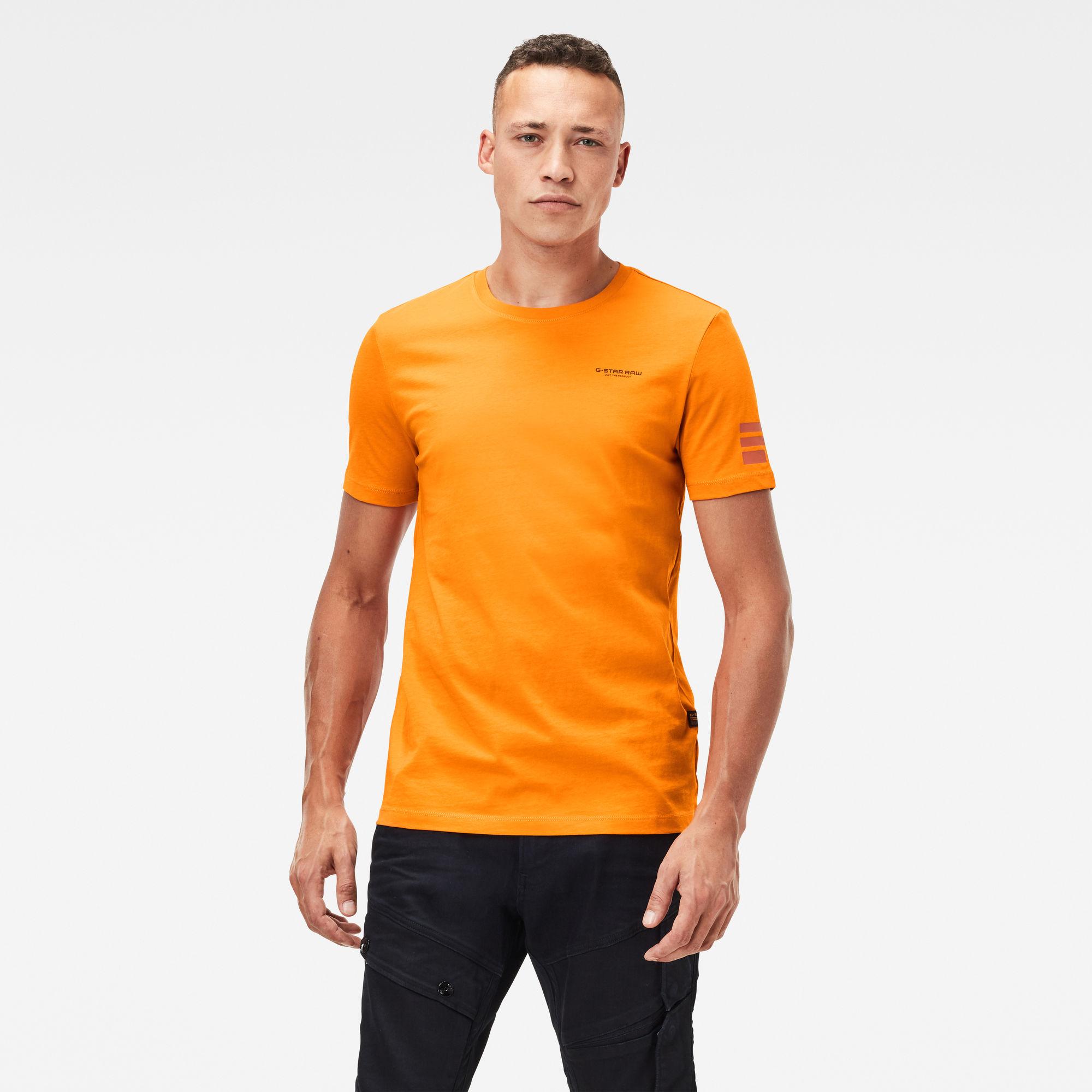 G-Star RAW Heren Text Graphic slim T-Shirt Oranje