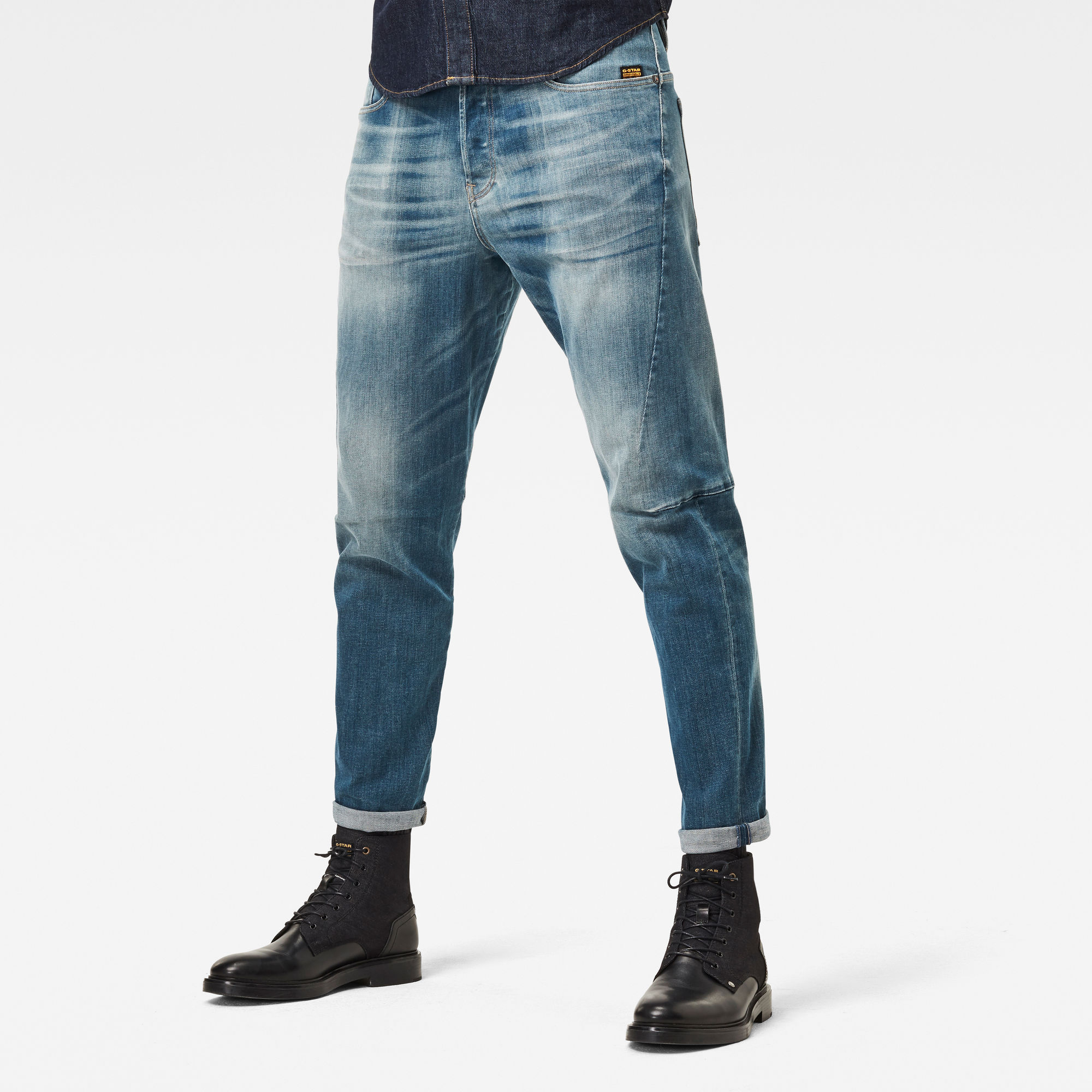G-Star RAW Heren Scutar 3D Tapered Jeans Blauw