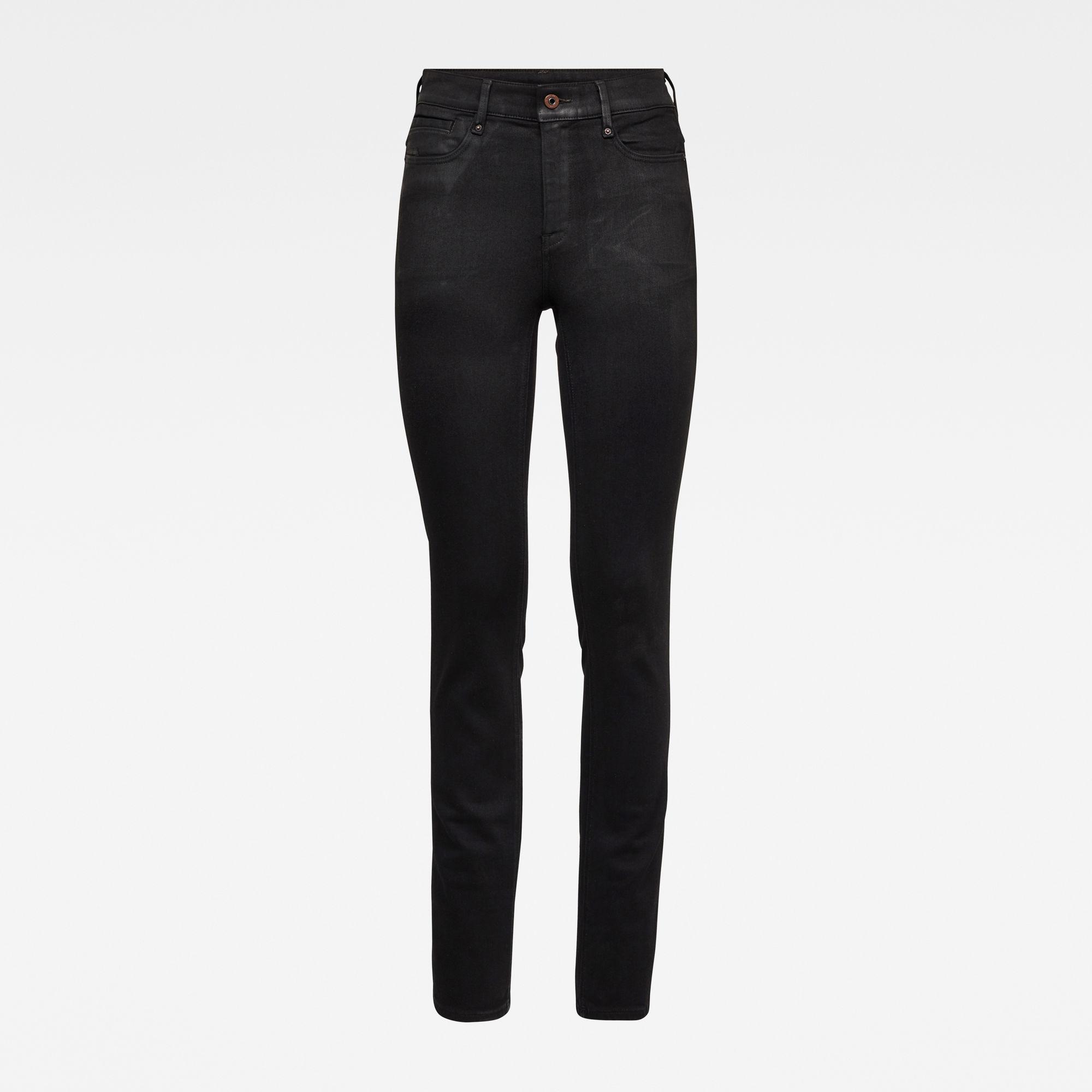 G-Star RAW Dames Noxer Navy Straight Jeans Zwart