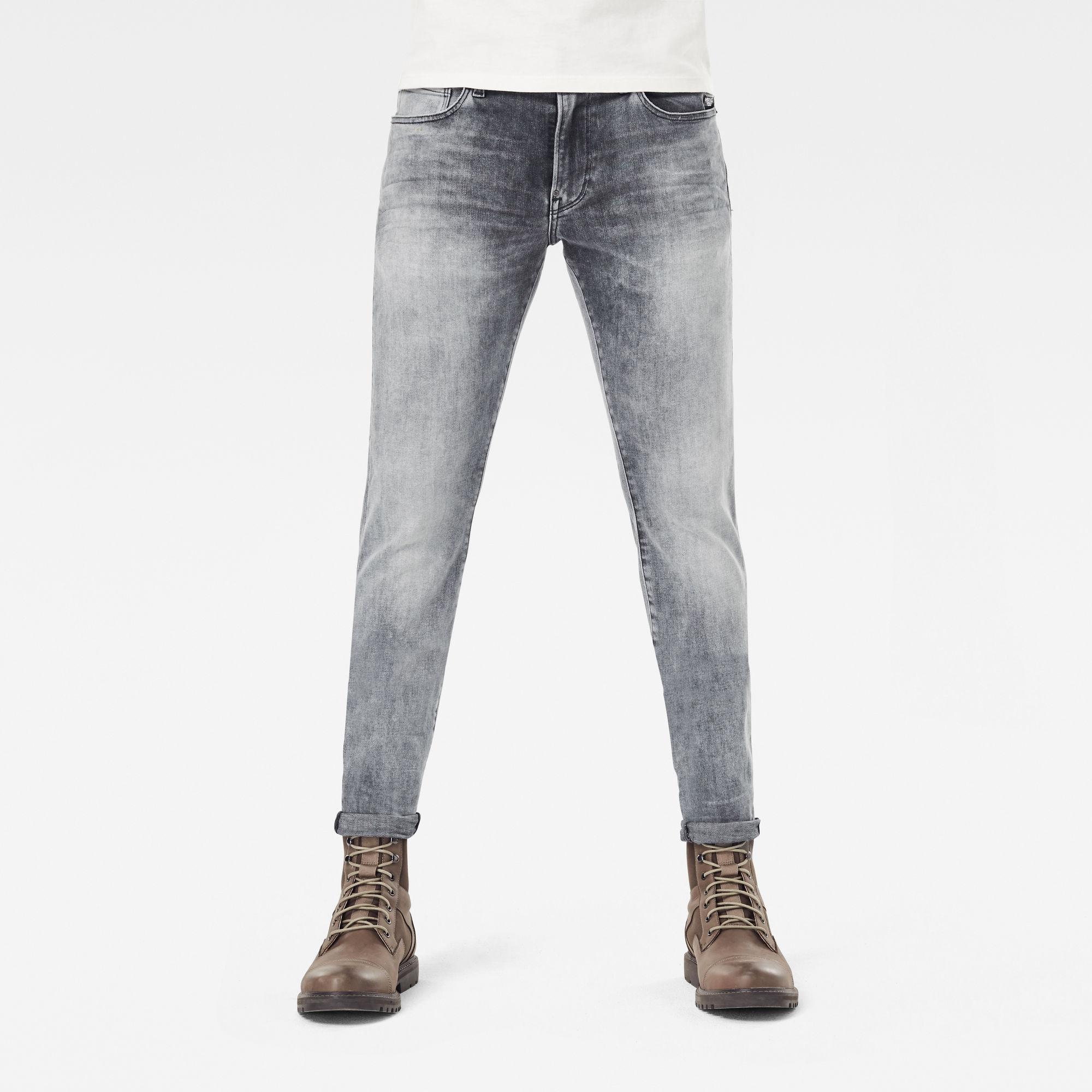 G-Star RAW Heren Revend Skinny Jeans Grijs