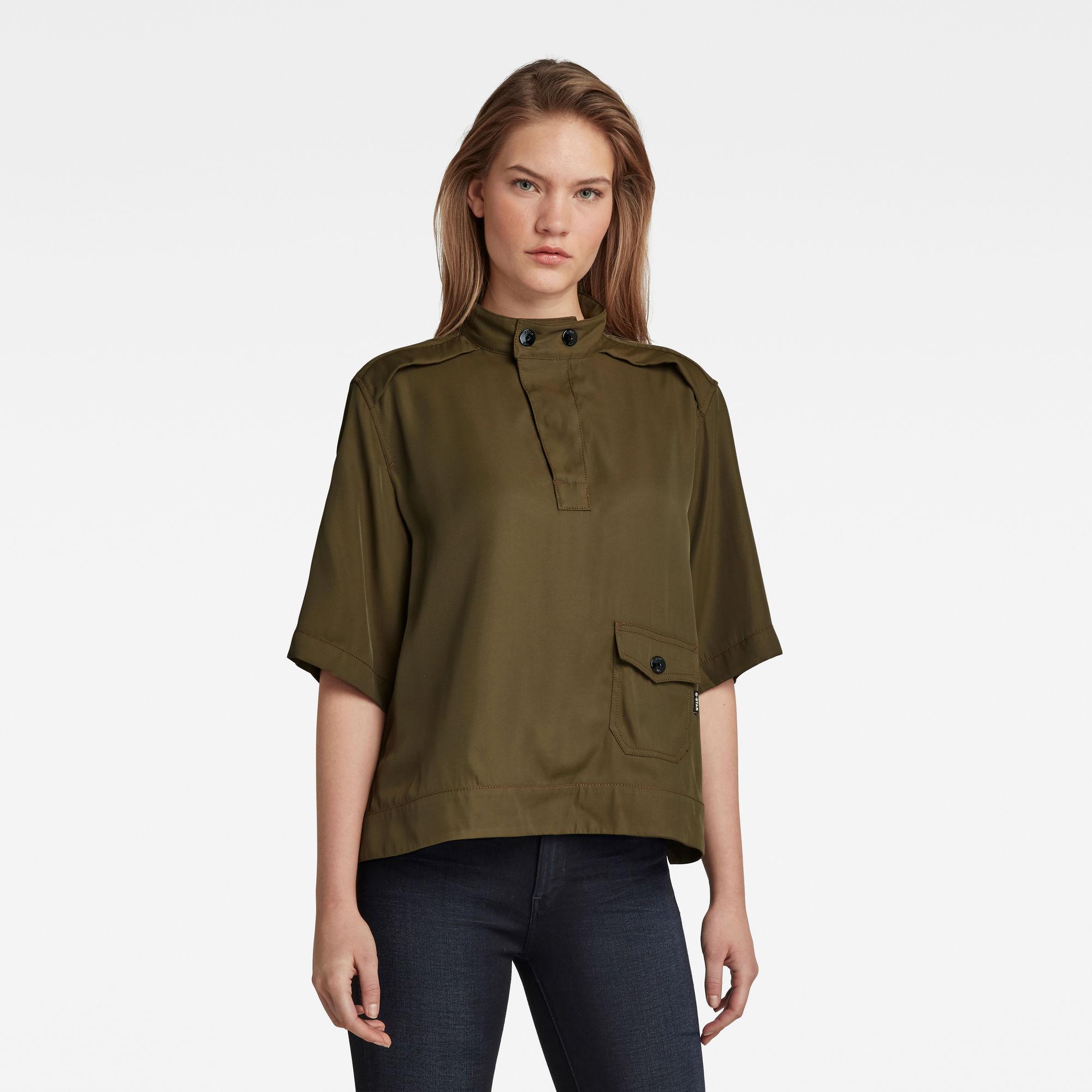 G-Star RAW Dames Swedish Collar Shirt Groen