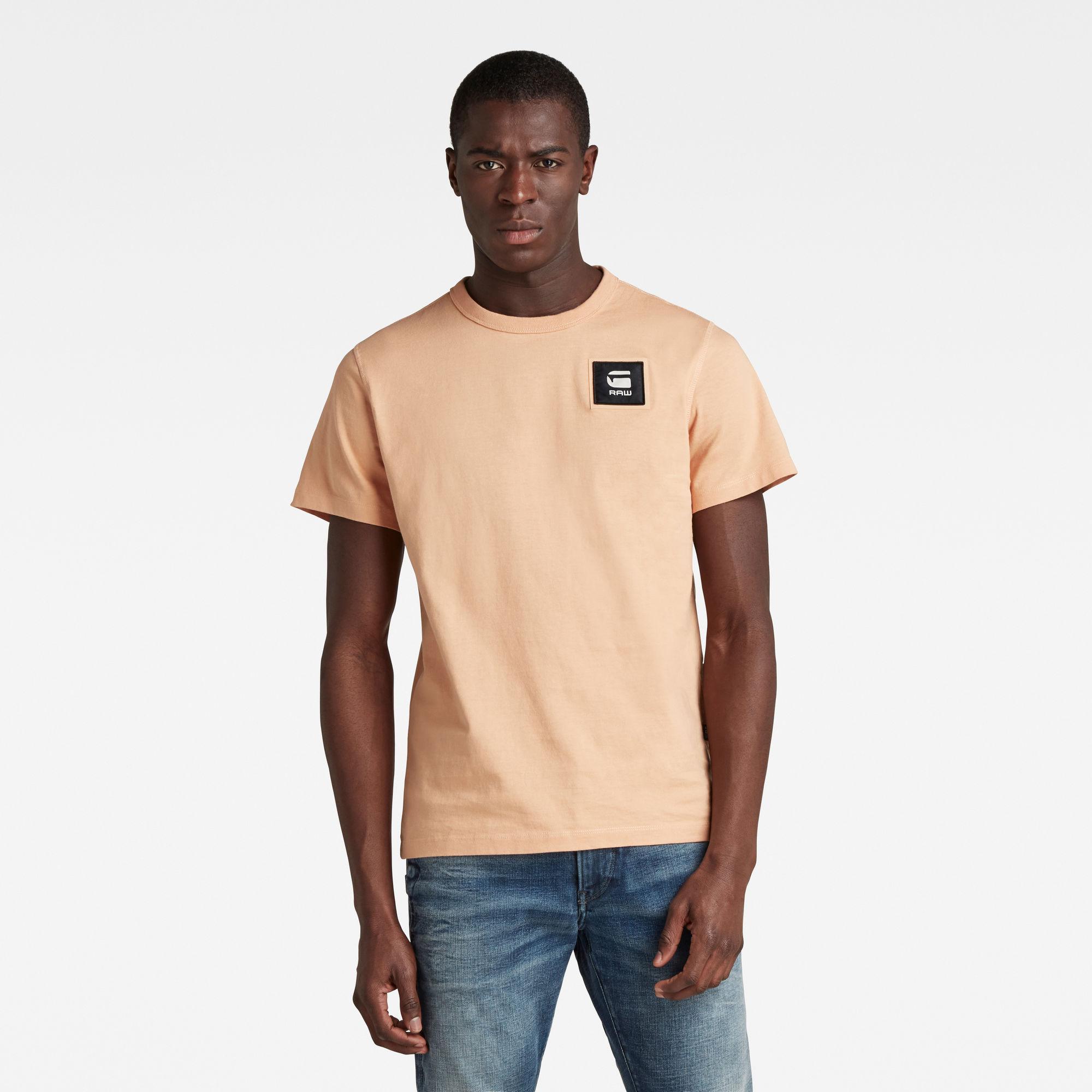 G-Star RAW Heren Badge Logo T-Shirt Roze
