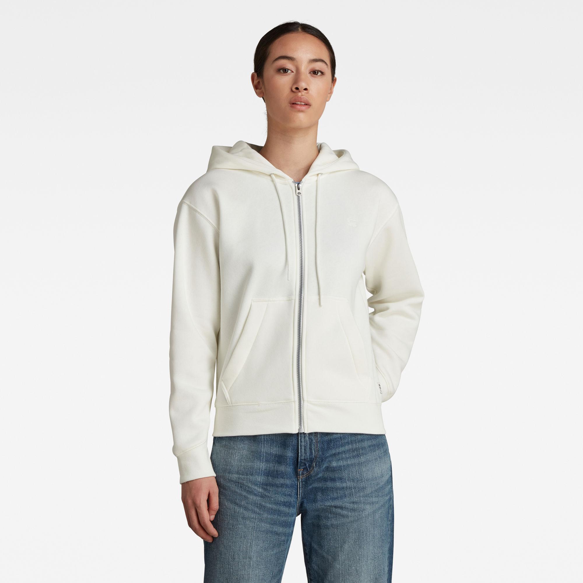 G-Star RAW Dames Premium Core Zip Through Hoodie Wit