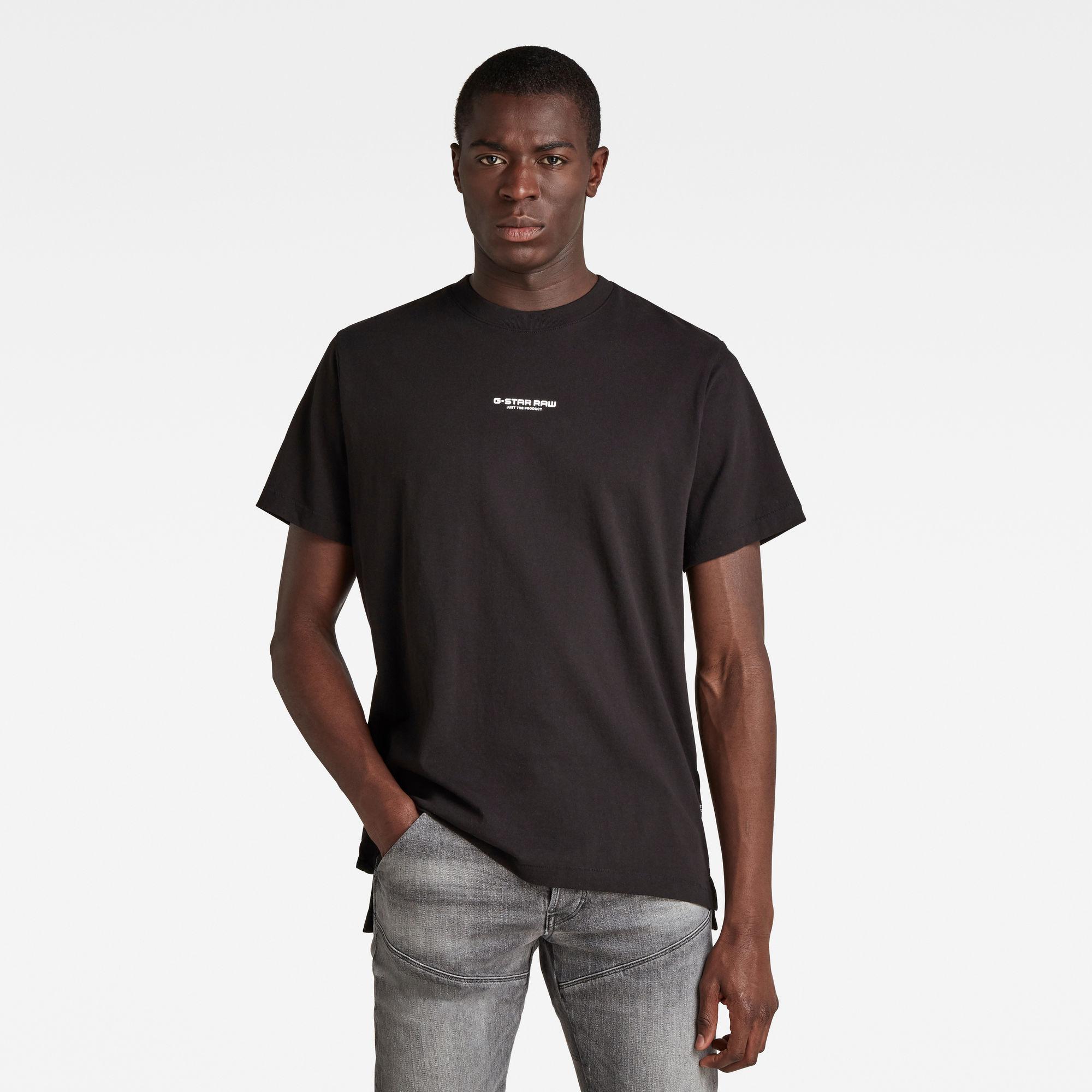 G-Star RAW Heren Center Chest Logo GR Loose T-Shirt Zwart