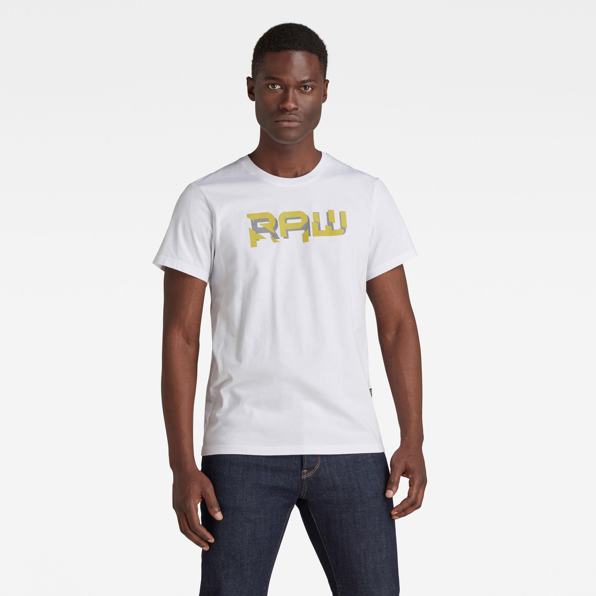 G-Star RAW Heren RAW. HD T-Shirt Wit