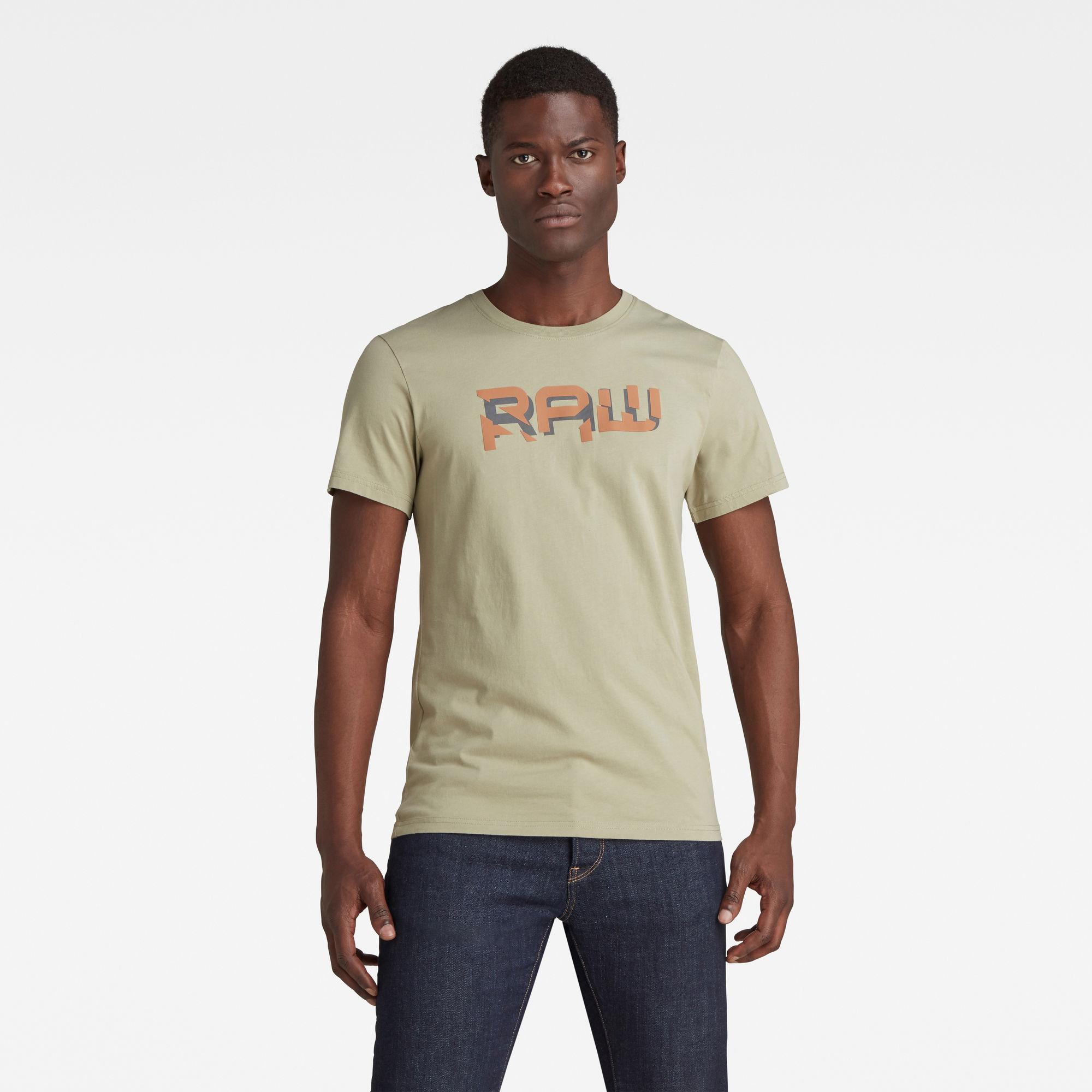 G-Star RAW Heren RAW. HD T-Shirt Groen