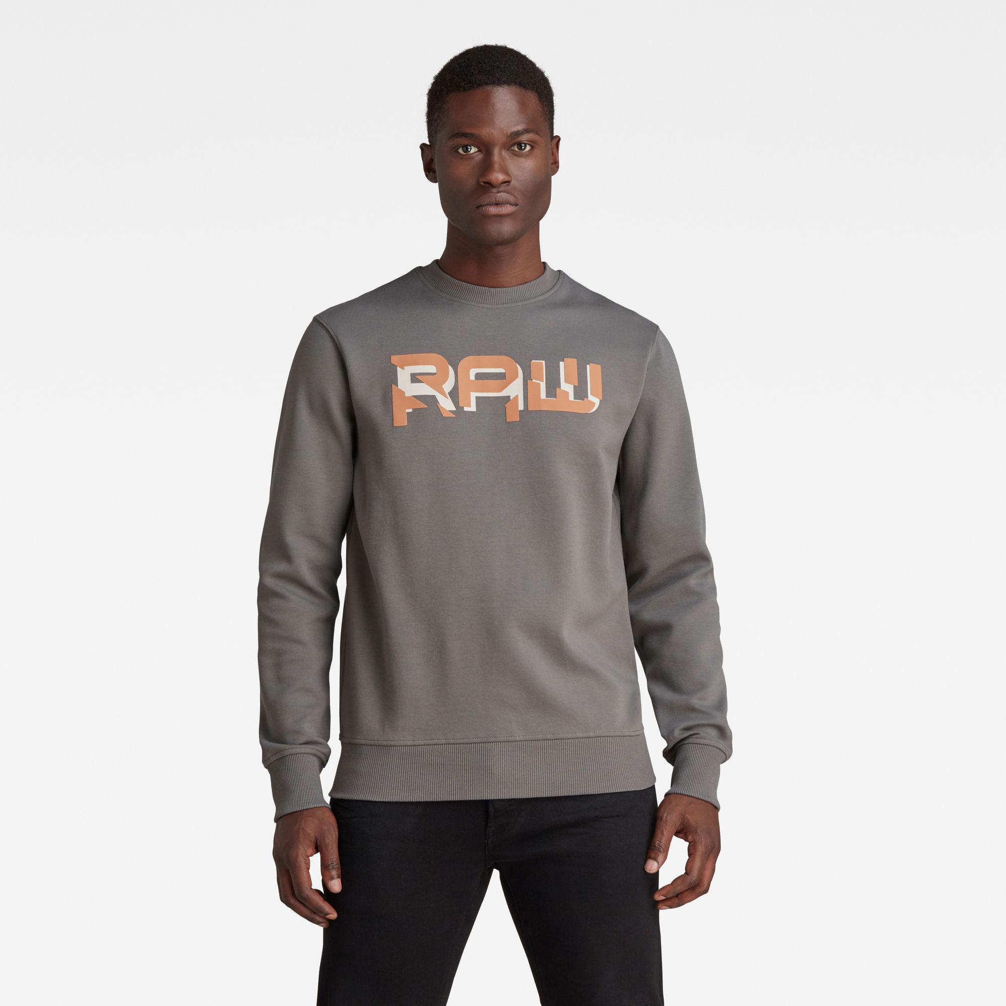 G-Star RAW Heren RAW. HD Sweater Grijs