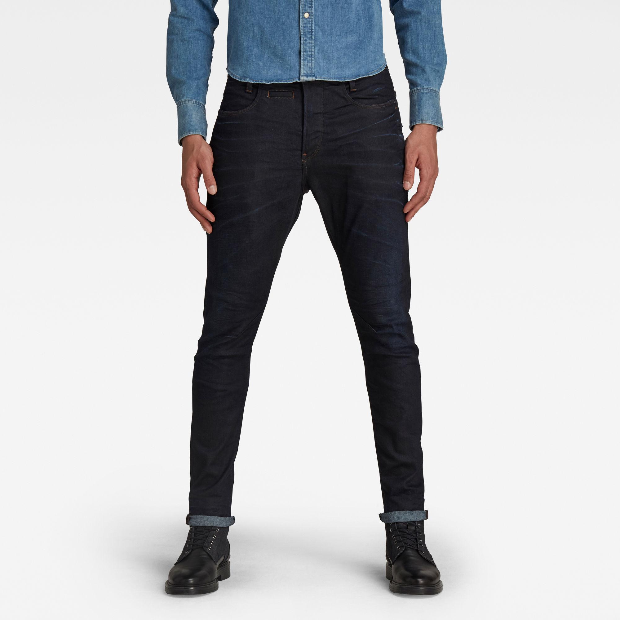 G-Star RAW Heren D-Staq 3D Slim Jeans Donkerblauw
