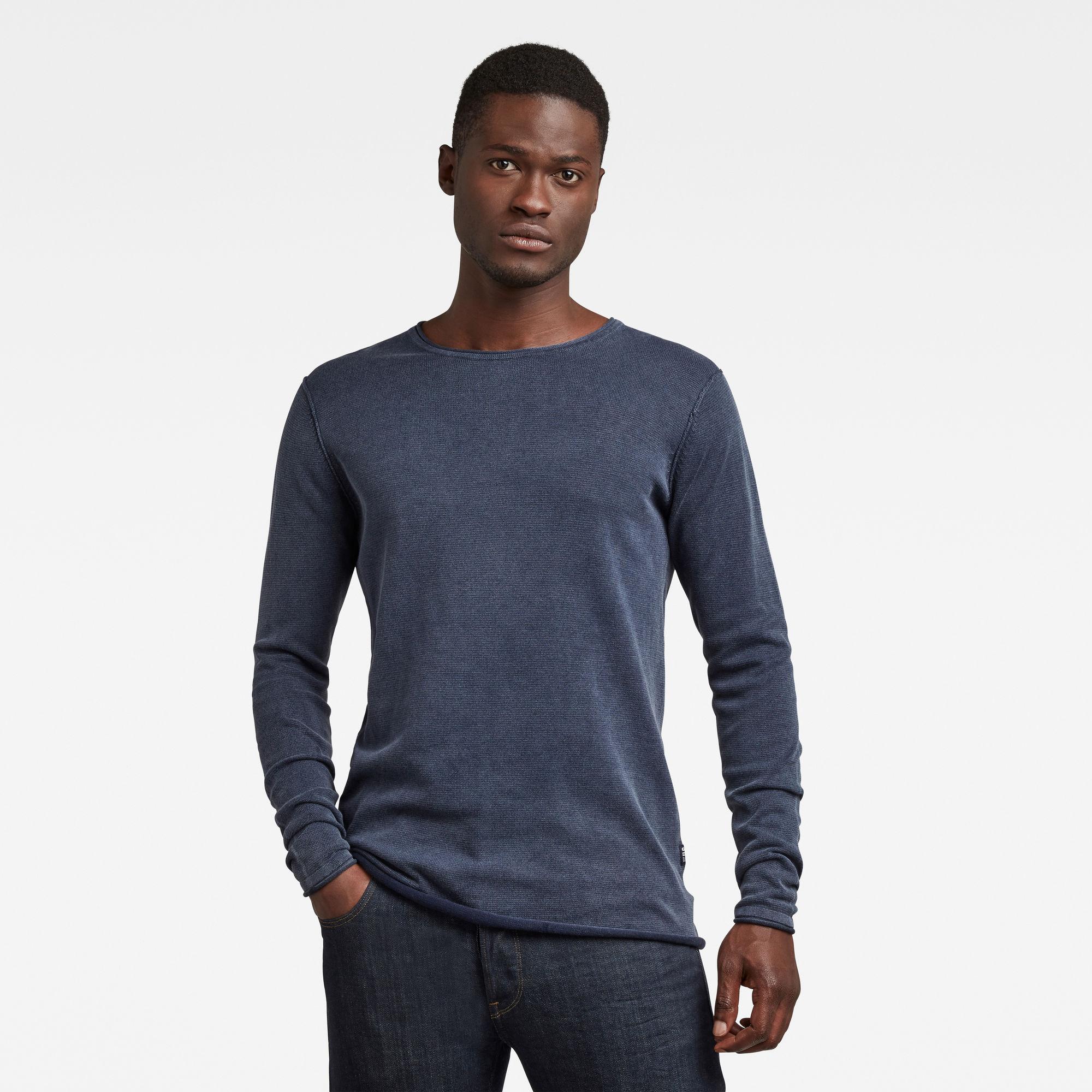 G-Star RAW Heren Bronek Knitted Sweater Donkerblauw