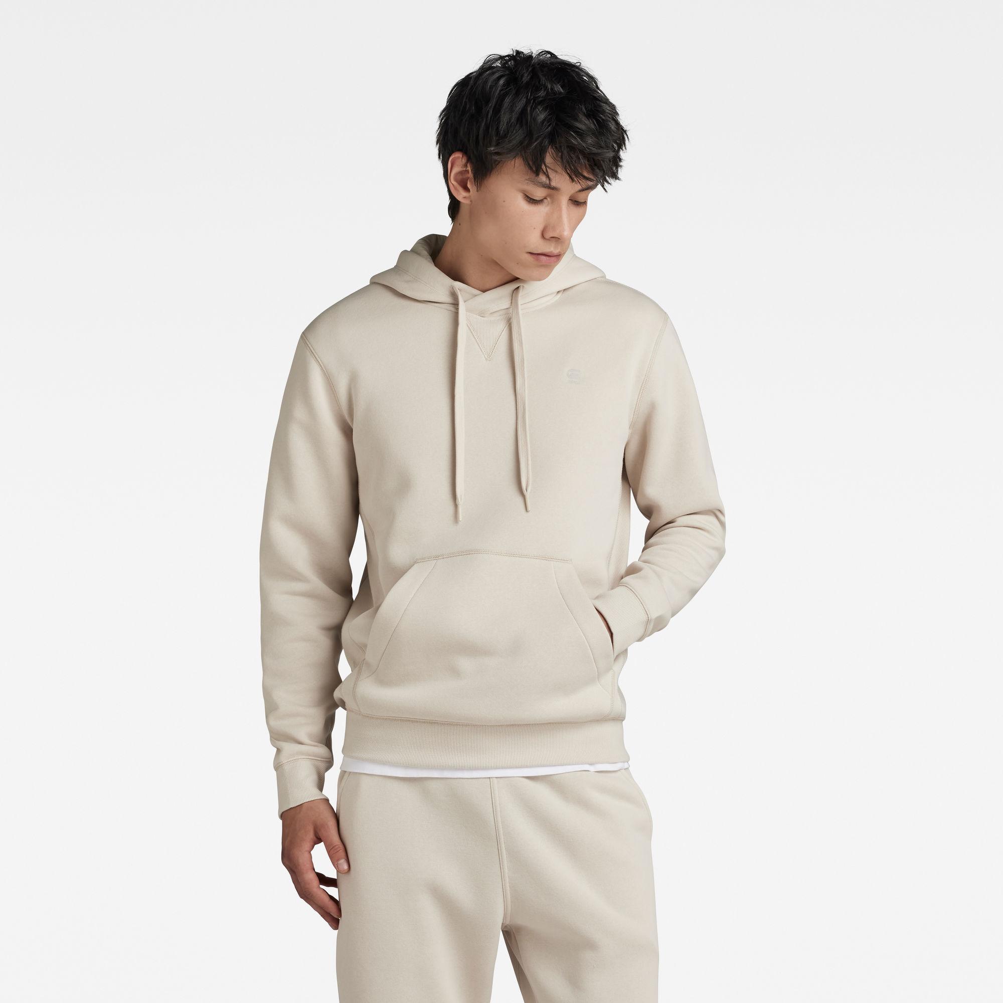 G-Star RAW Heren Premium Core Hooded Sweater Beige