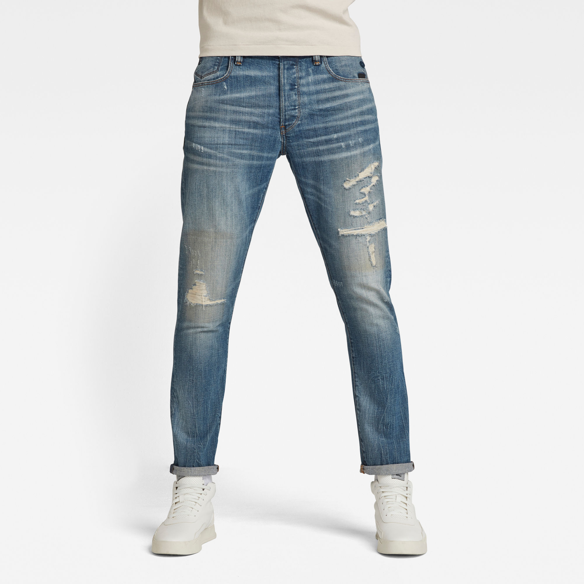 G-Star RAW Heren G-Bleid Slim Jeans Lichtblauw