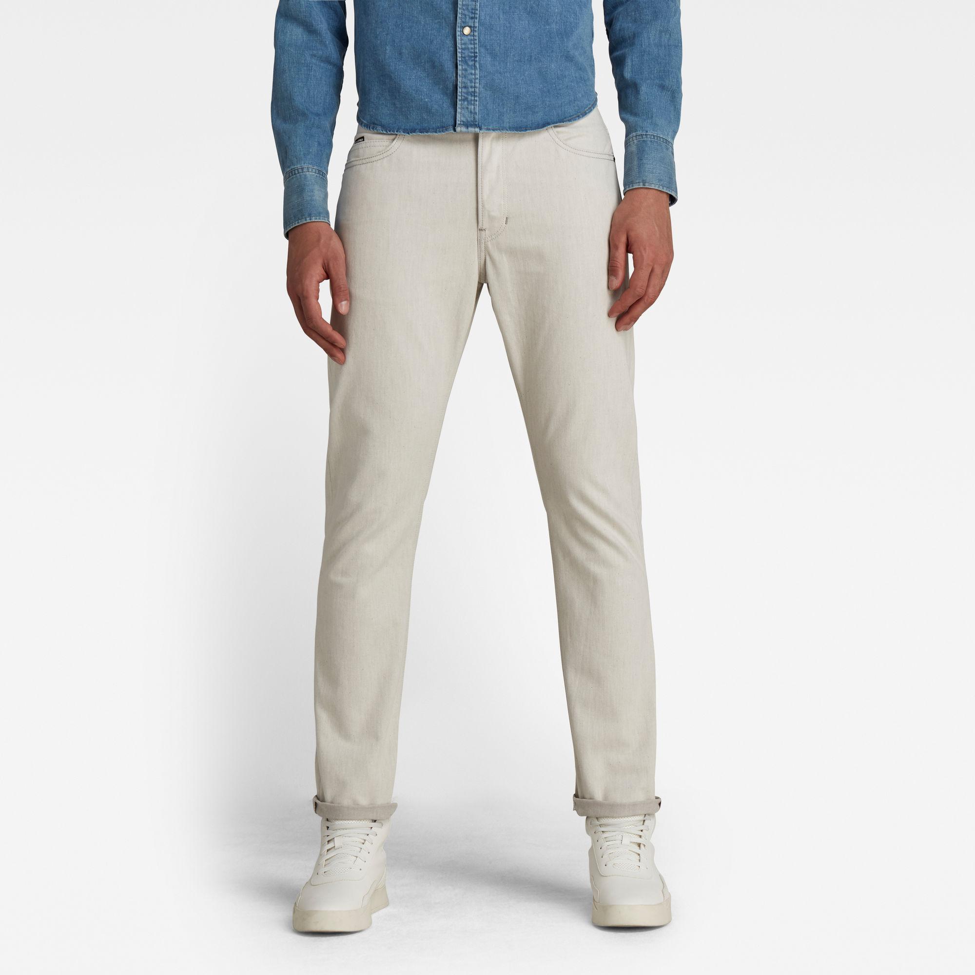 G-Star RAW Heren Triple A Regular Straight Jeans Beige