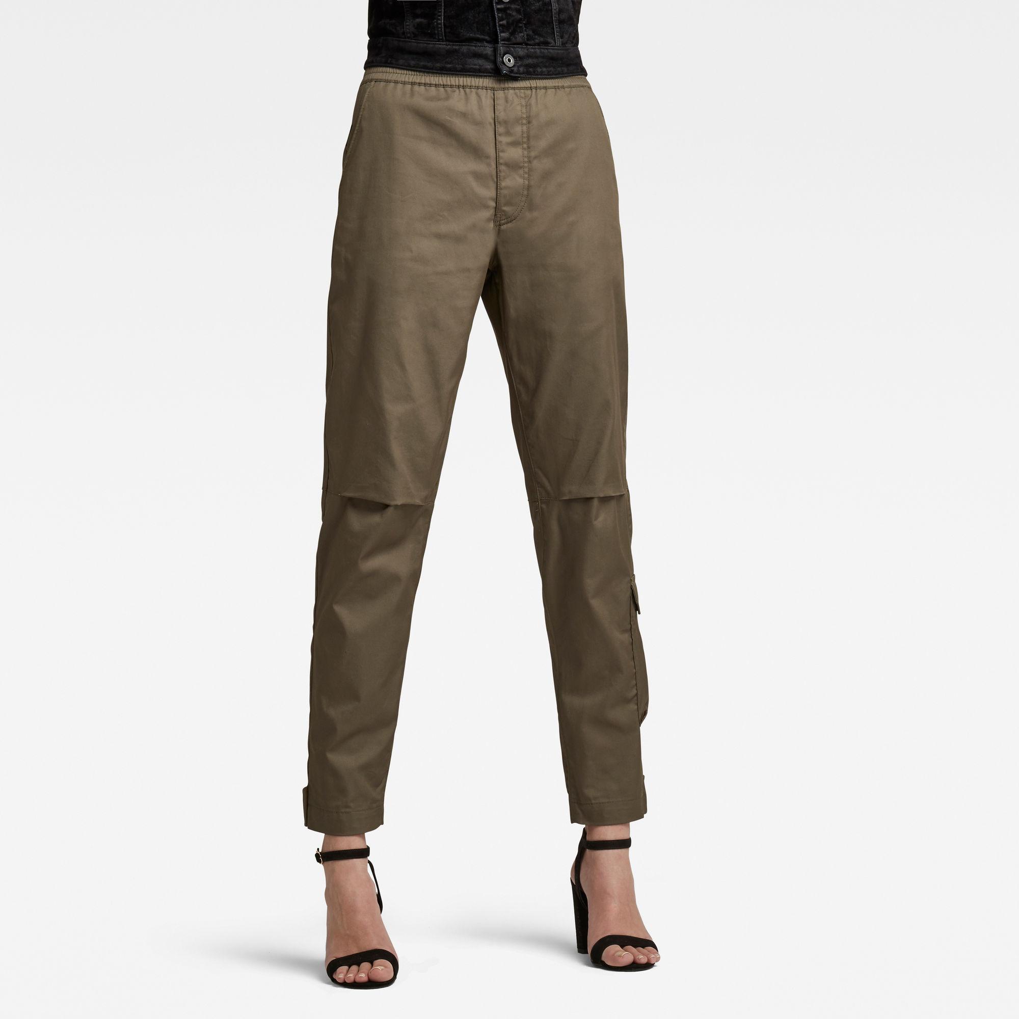 G-Star RAW Dames Elasticated waist Pant Groen