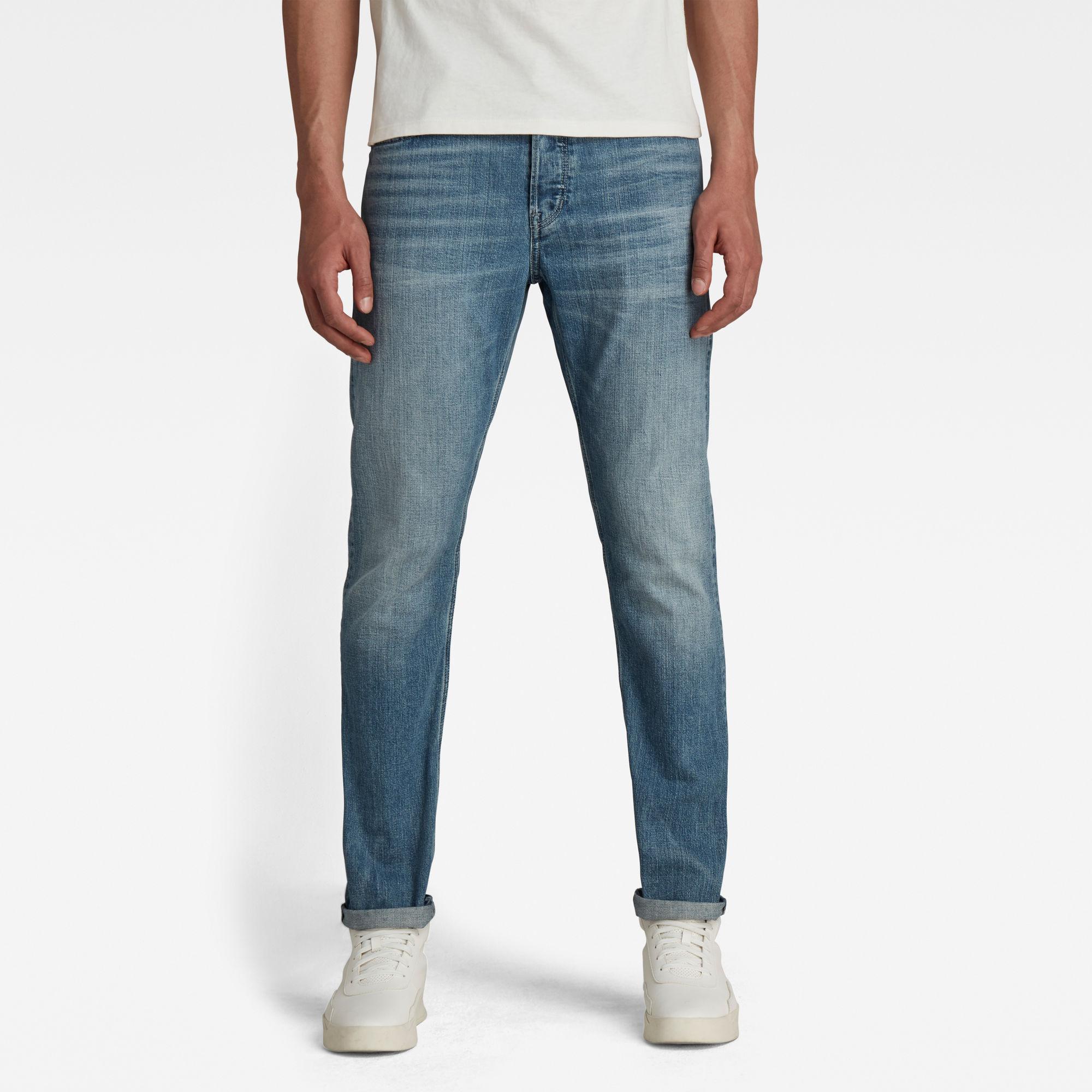 G-Star RAW Heren Triple A Regular Straight Jeans Blauw