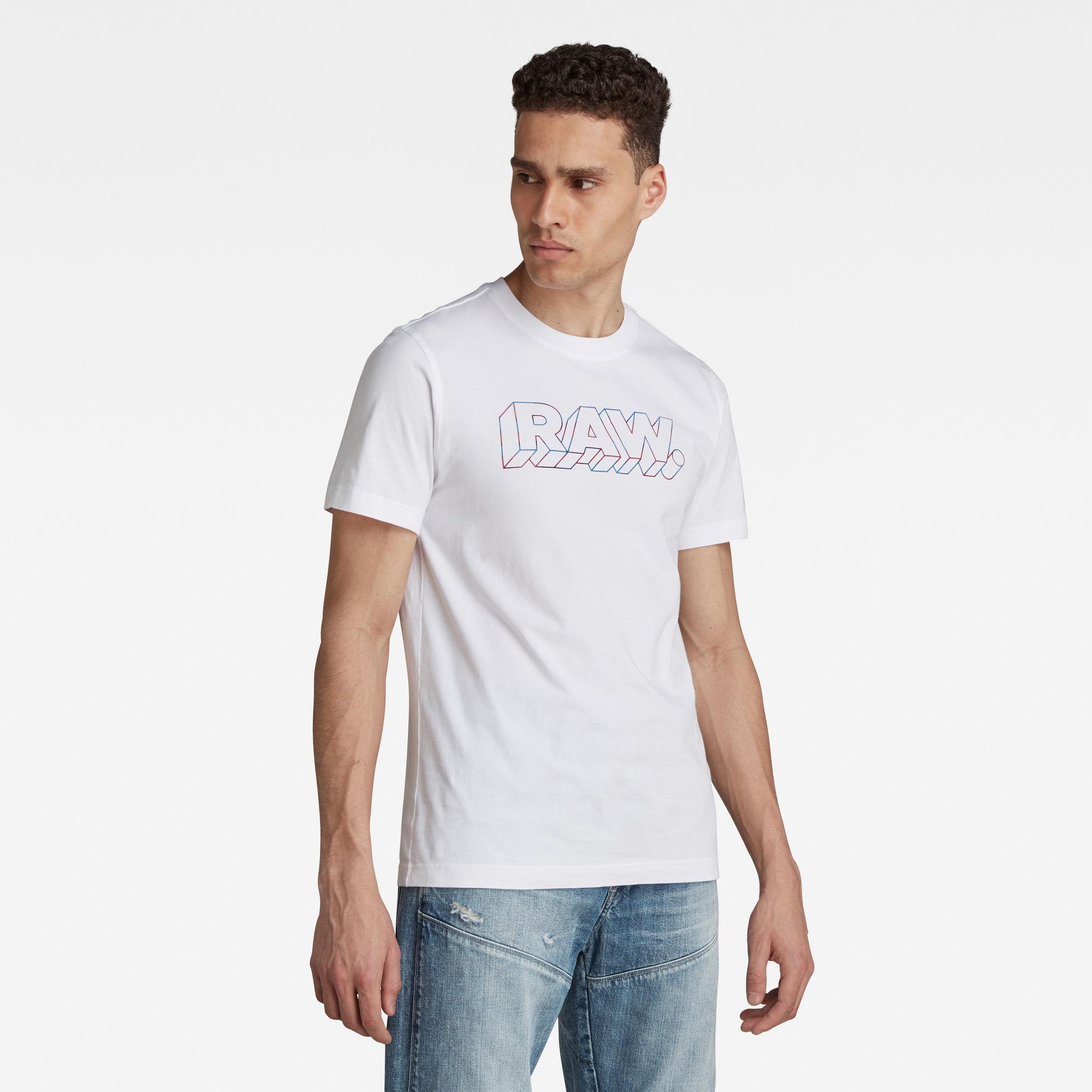 G-Star RAW Heren 3D RAW. T-Shirt Wit