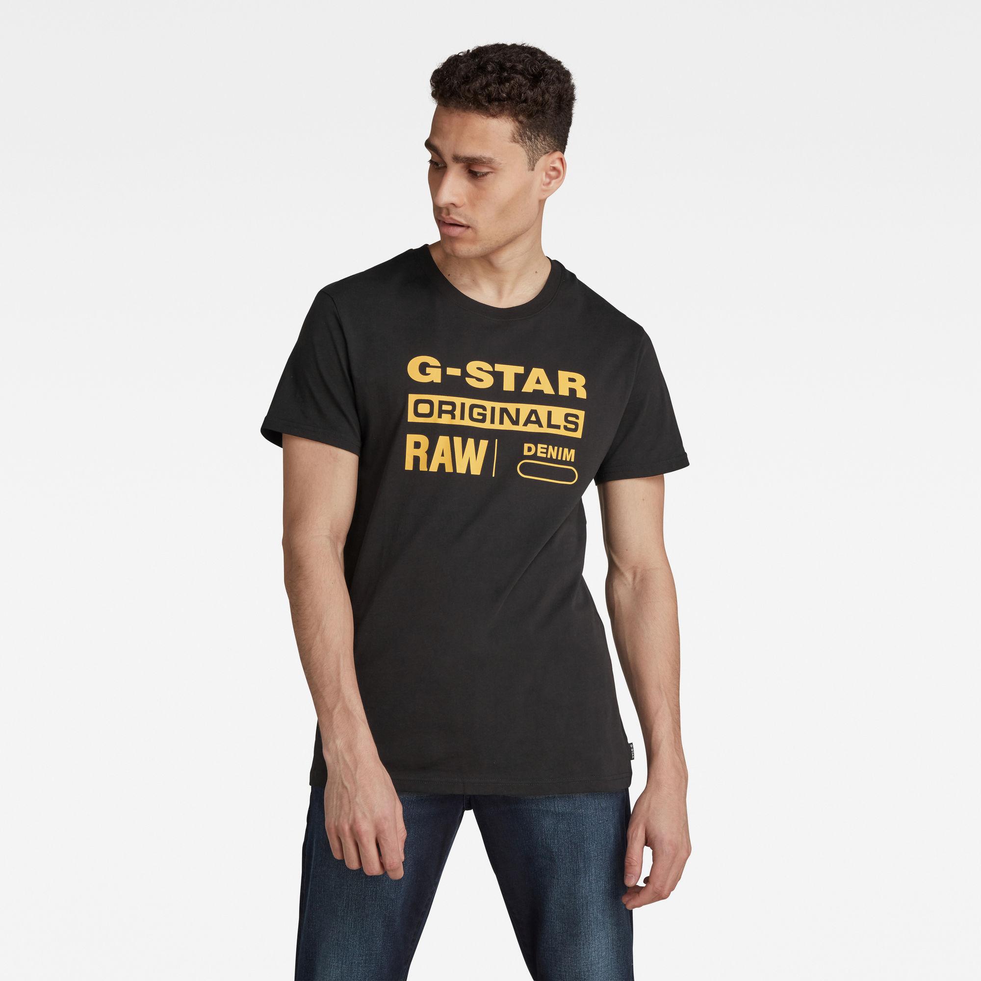 G-Star RAW Heren Raw. Graphic Slim T-Shirt Zwart