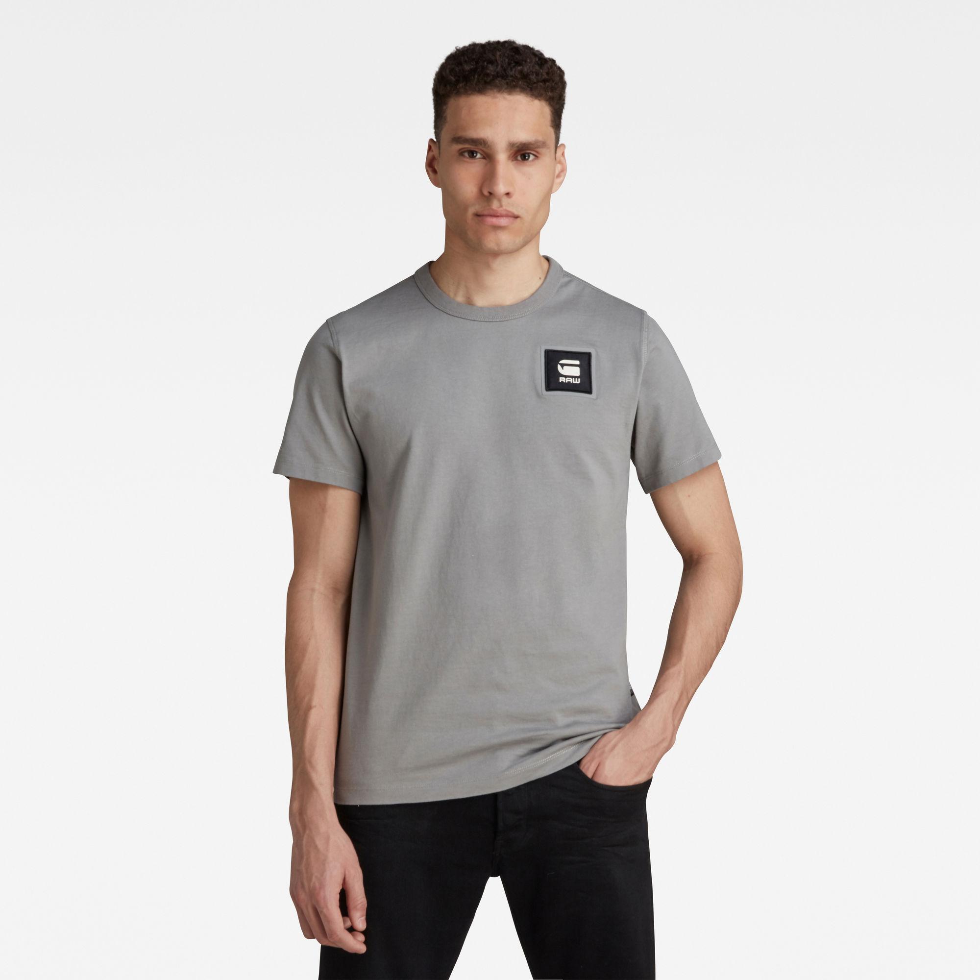 G-Star RAW Heren Badge Logo T-Shirt Grijs