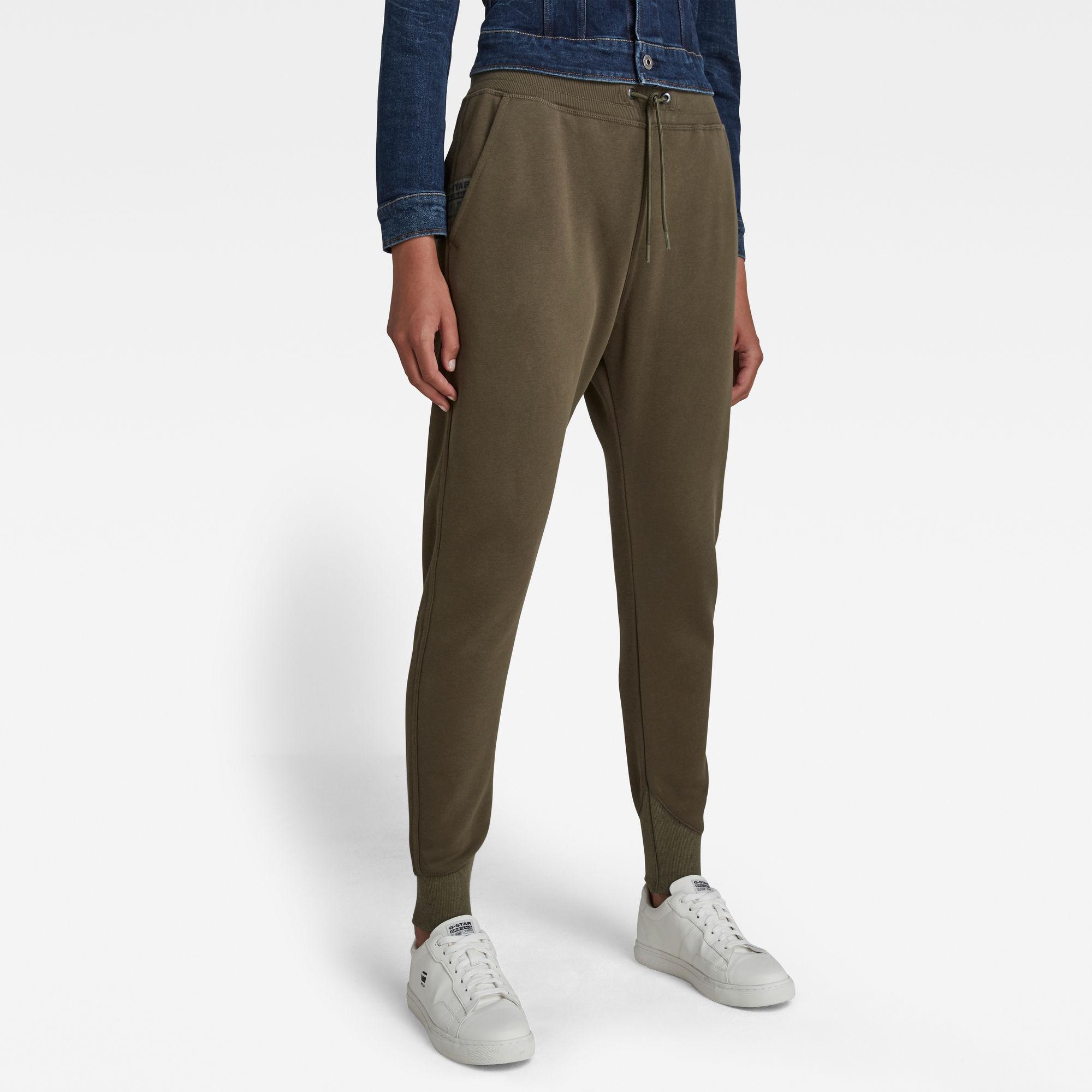 G-Star RAW Dames Premium core 3D Tapered Sweatpants Groen
