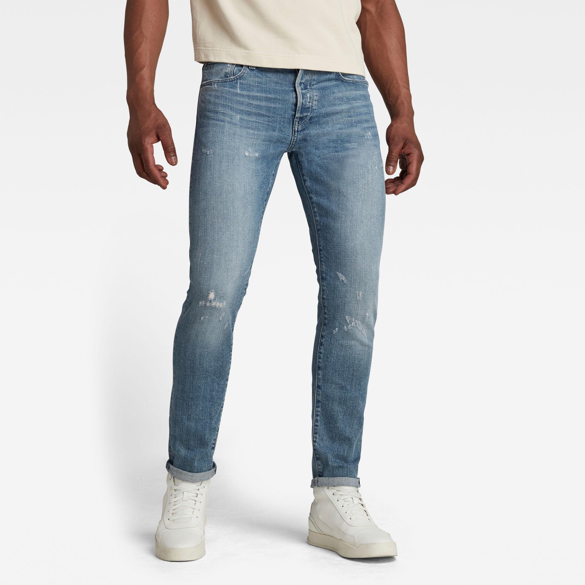 G-Star RAW Heren 3301 Slim Jeans Lichtblauw