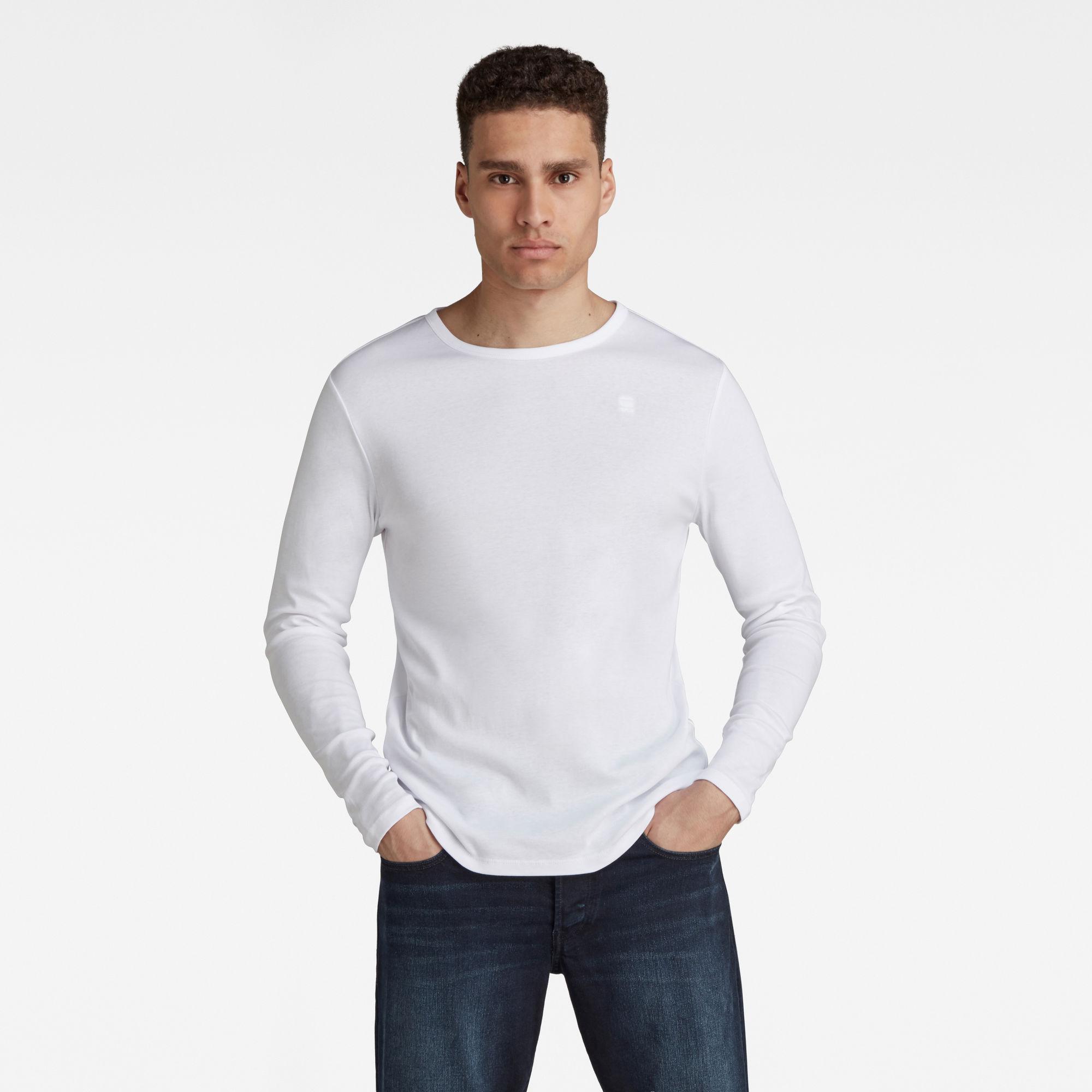 G-Star RAW Heren Basic Round Neck T-Shirt Wit