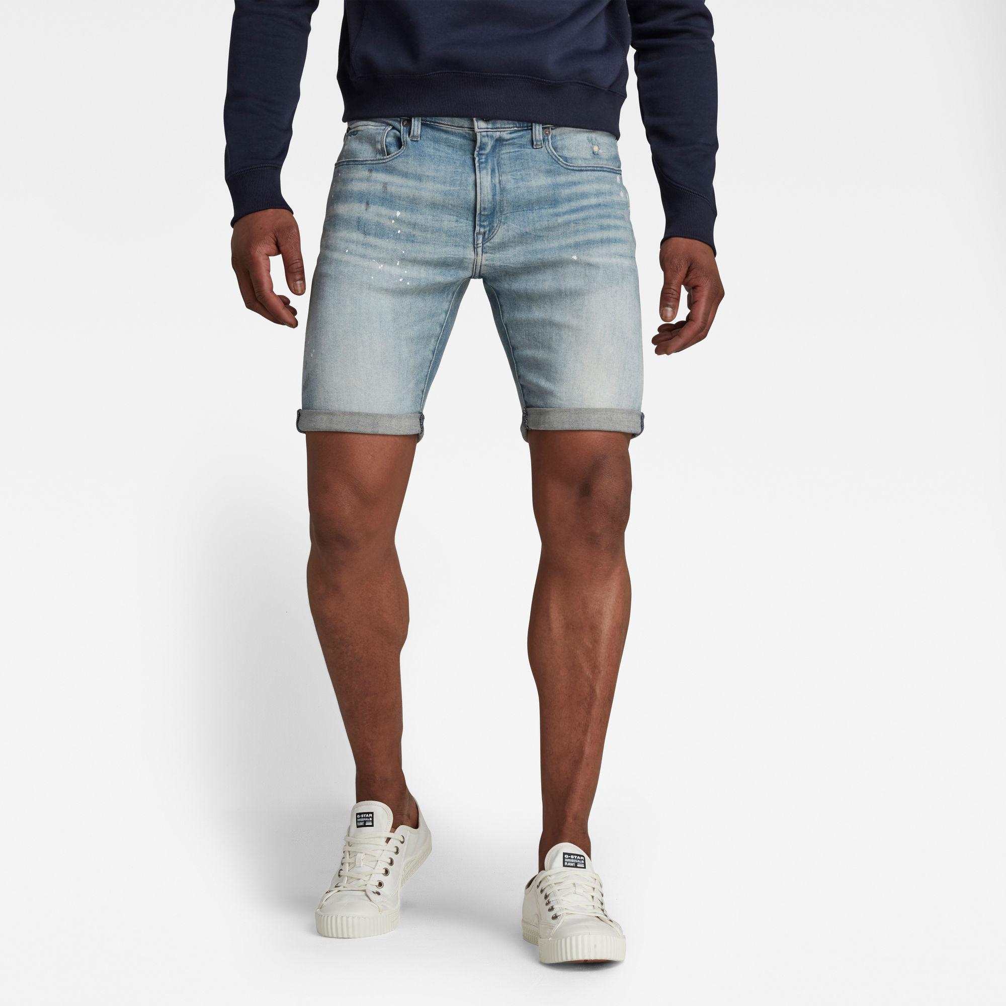 G-Star RAW Heren 3301 Denim Slim Shorts Lichtblauw