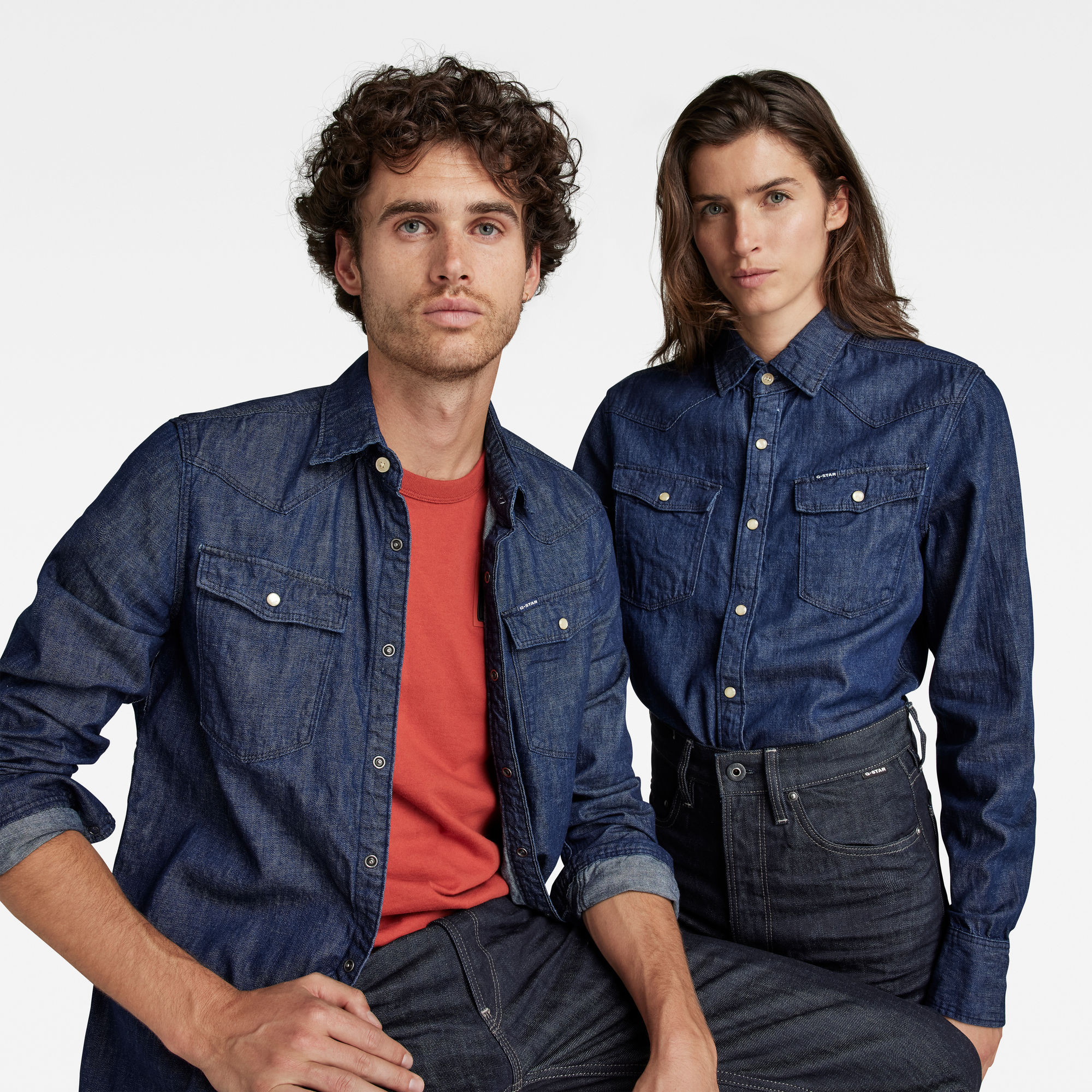 G-Star RAW Heren 3301 Slim Shirt Donkerblauw