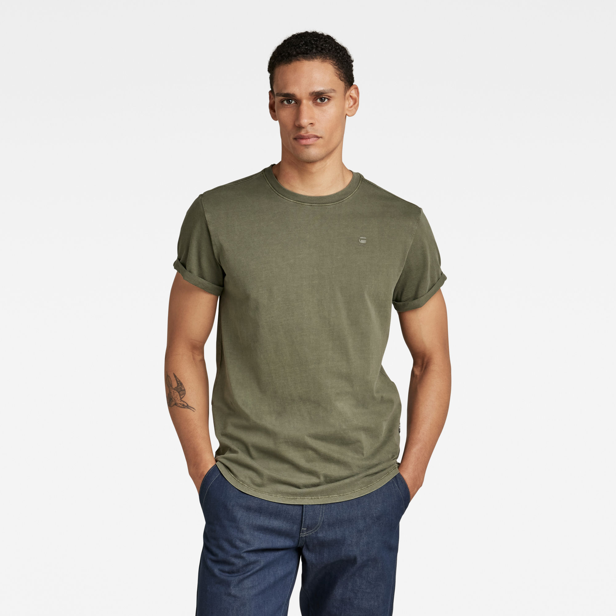 G-Star RAW Heren Lash T-Shirt Groen