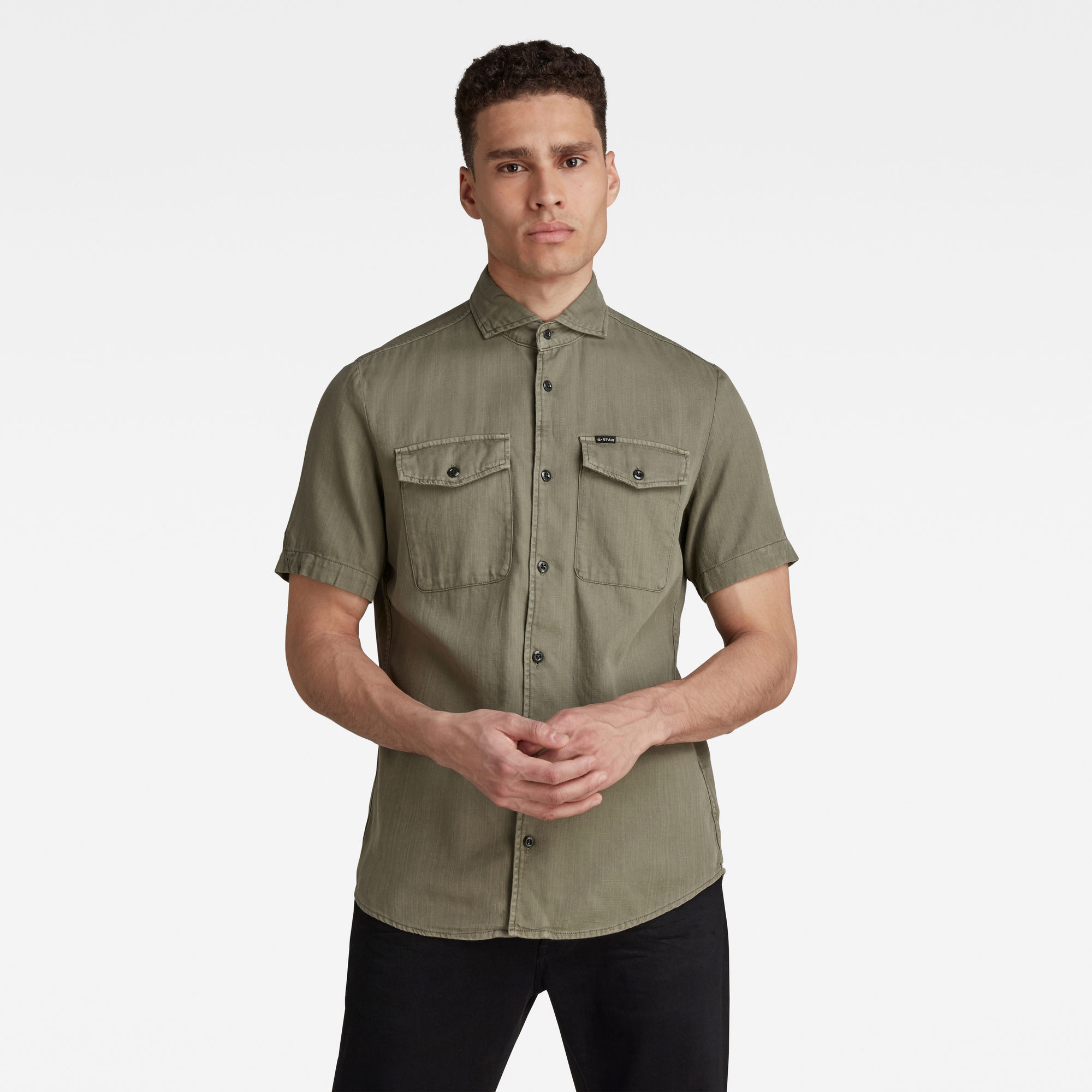 G-Star RAW Heren Marine Service Slim Shirt Groen