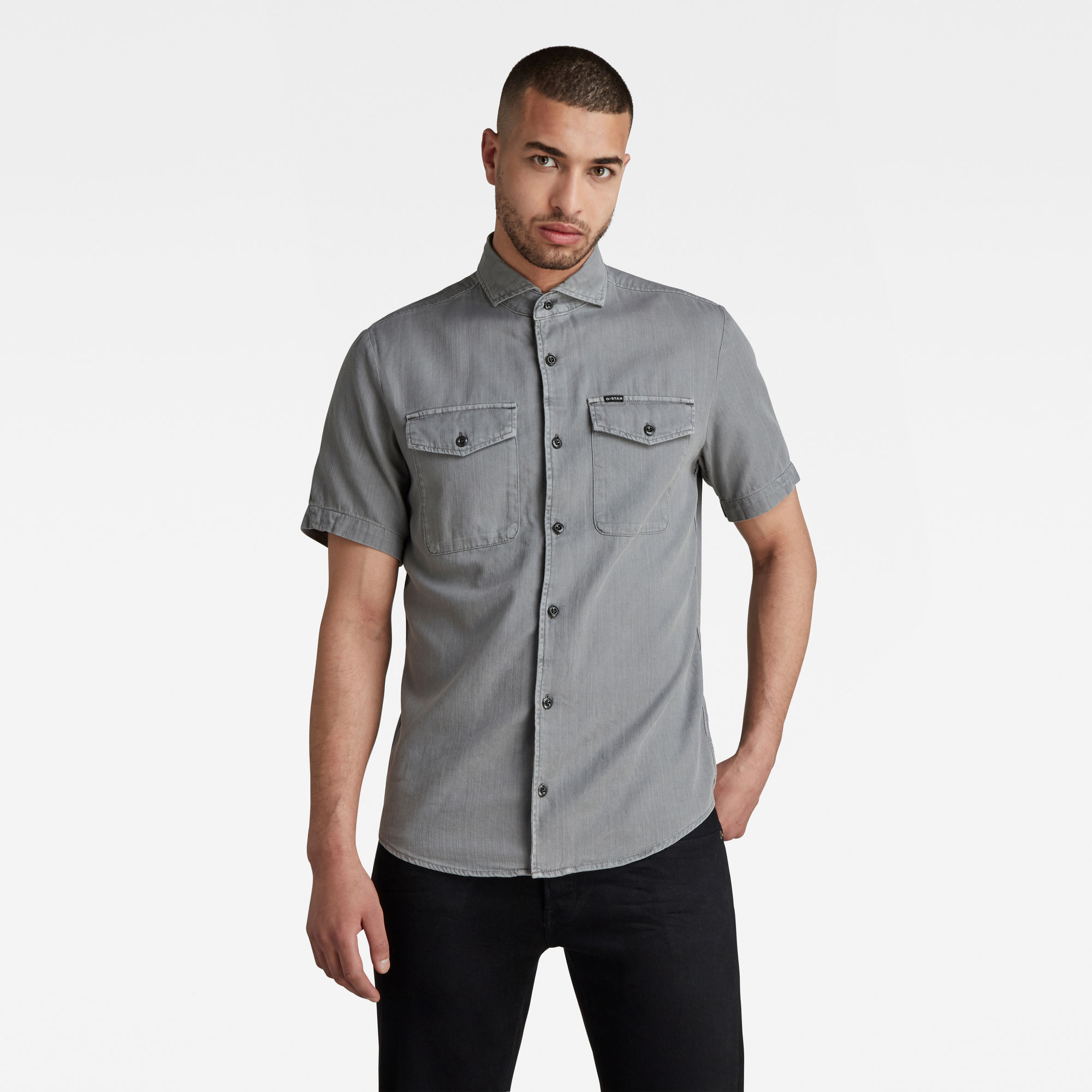 G-Star RAW Heren Marine Service Slim Shirt Grijs