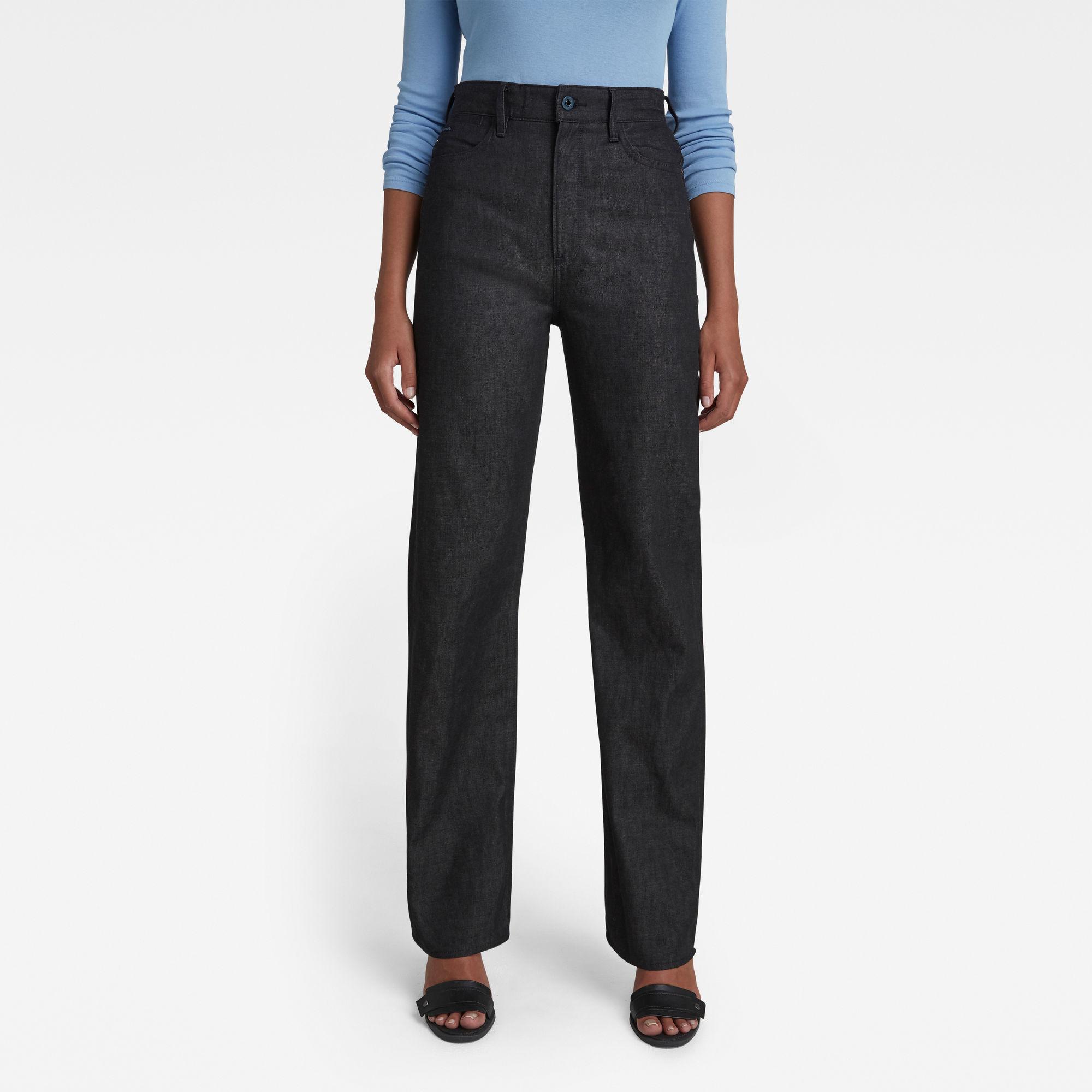 G-Star RAW Dames Tedie Ultra High Straight Jeans Zwart
