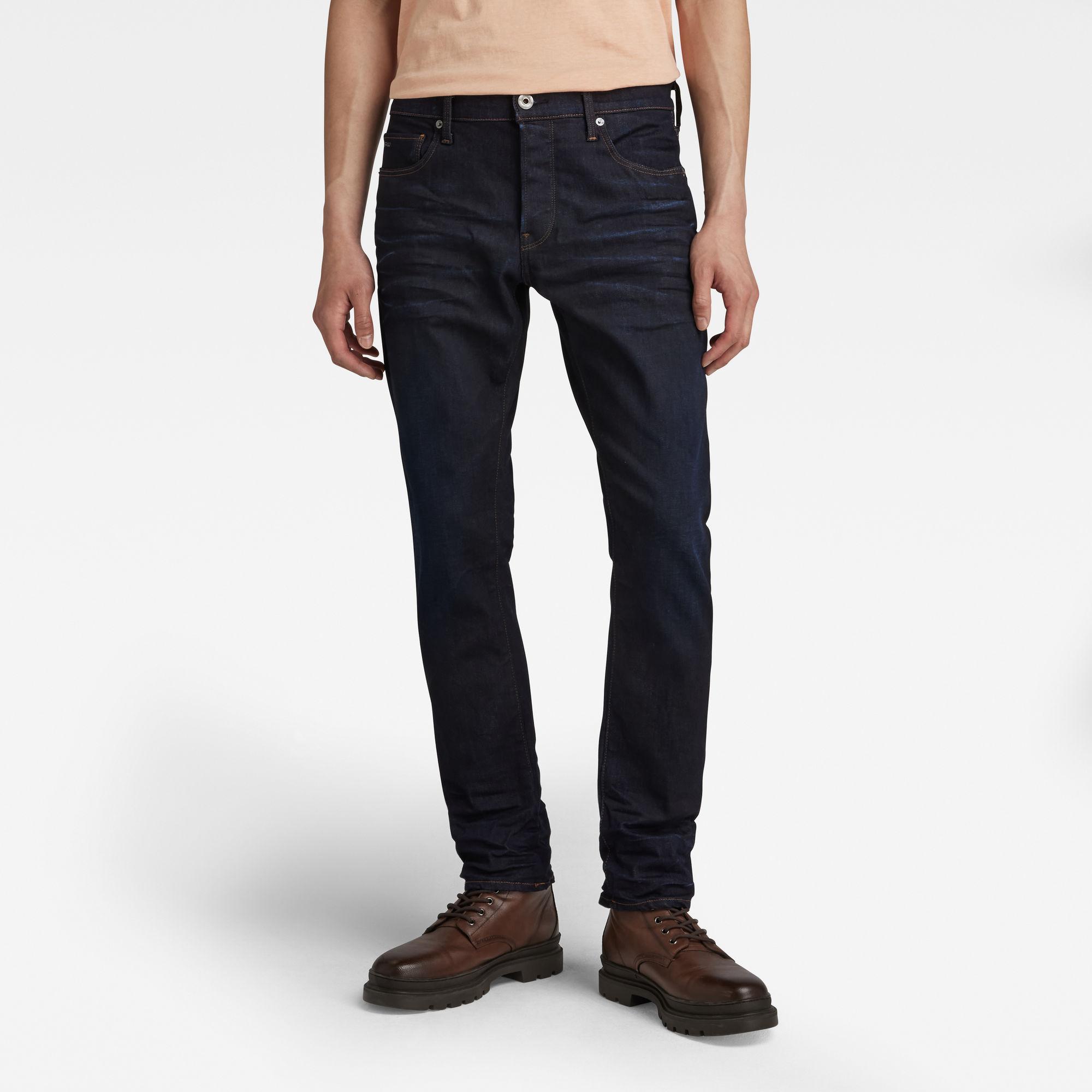 G-Star RAW Heren 3301 Straight Tapered Jeans Donkerblauw
