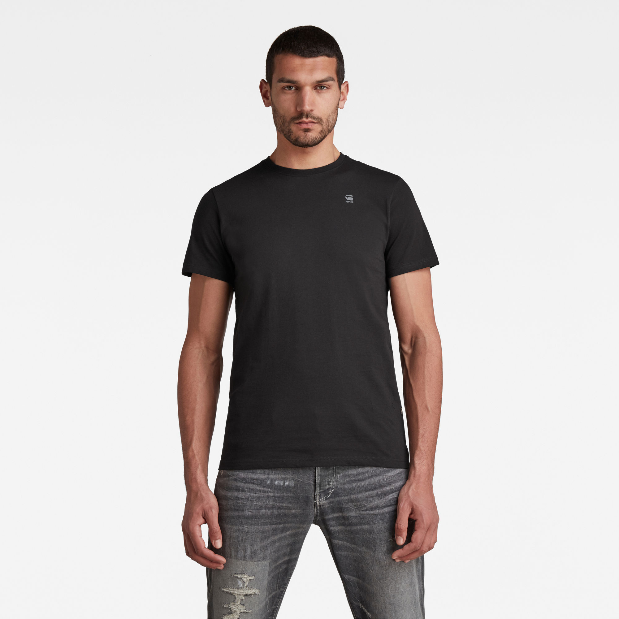 G-Star RAW Heren Base-S T-Shirt Zwart