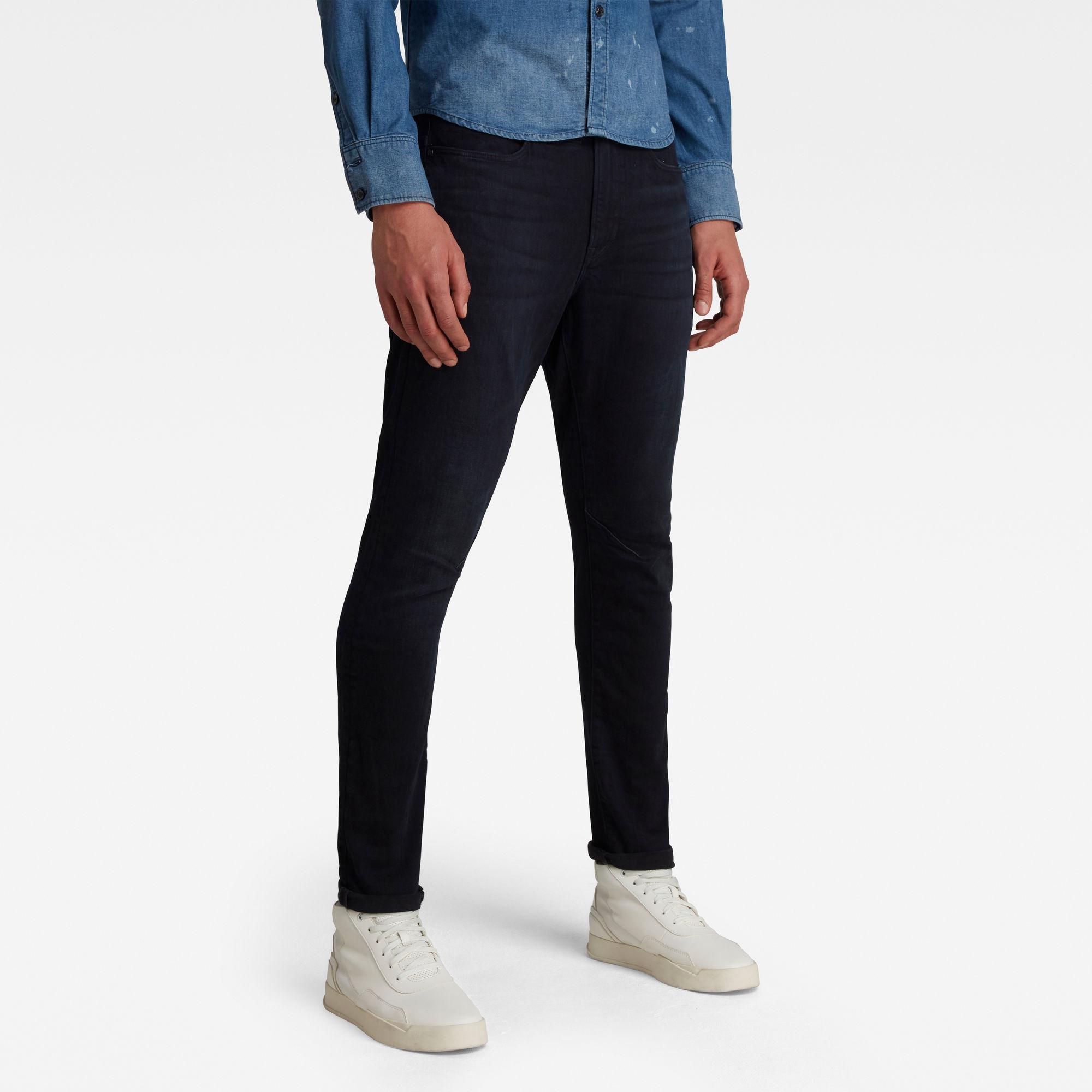 G-Star RAW Heren D-Staq 3D Skinny Jeans Donkerblauw