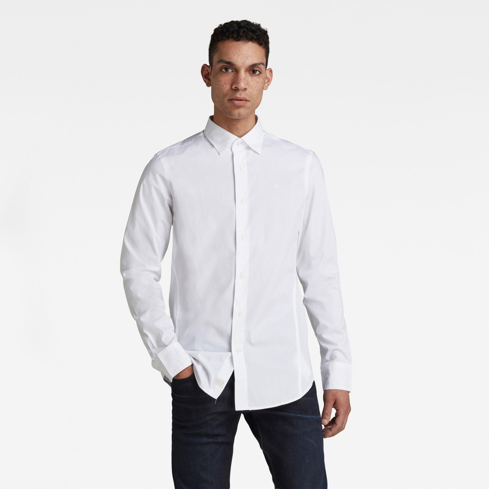 G-Star RAW Heren Dressed Super Slim Shirt Wit